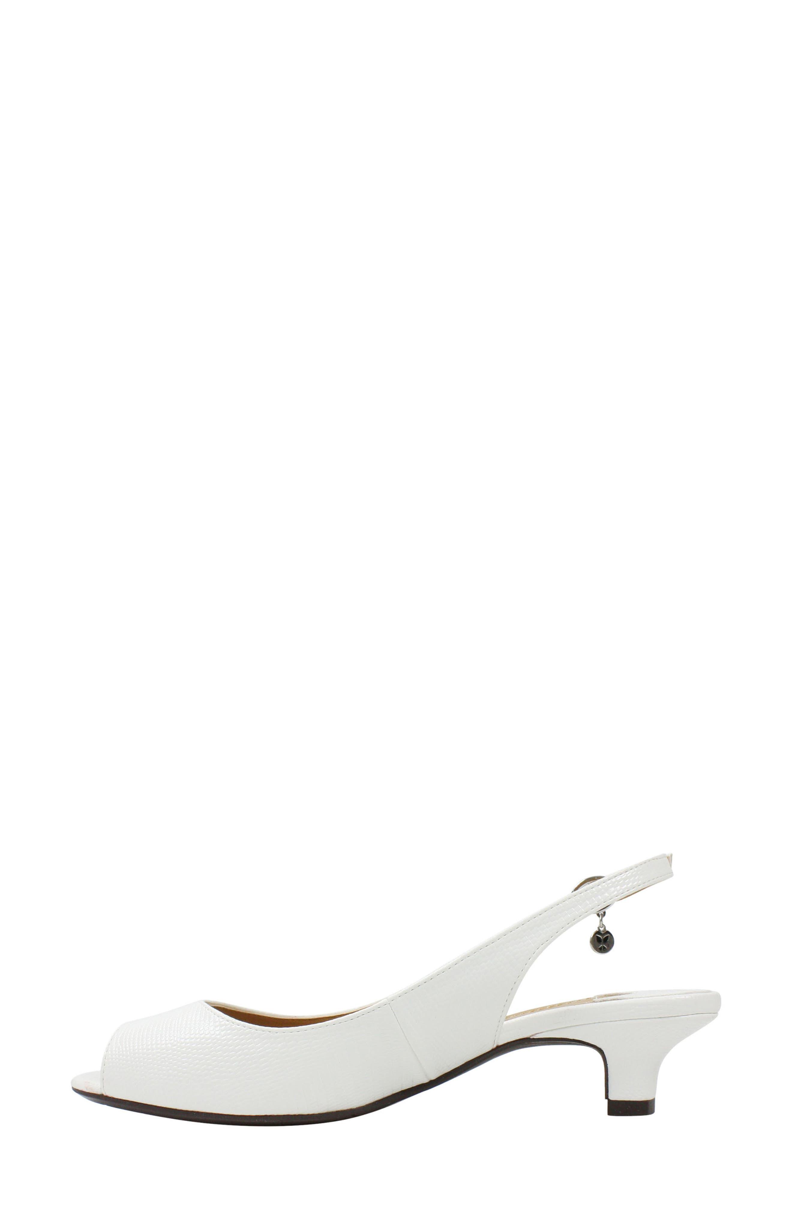 Jenvey Slingback Sandal,                             Alternate thumbnail 7, color,                             WHITE LIZARD PRINT