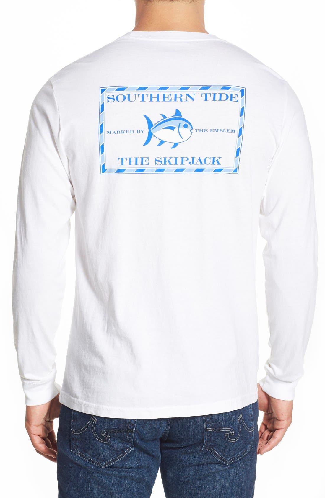 'Skipjack'Long Sleeve Graphic T-Shirt,                             Main thumbnail 4, color,