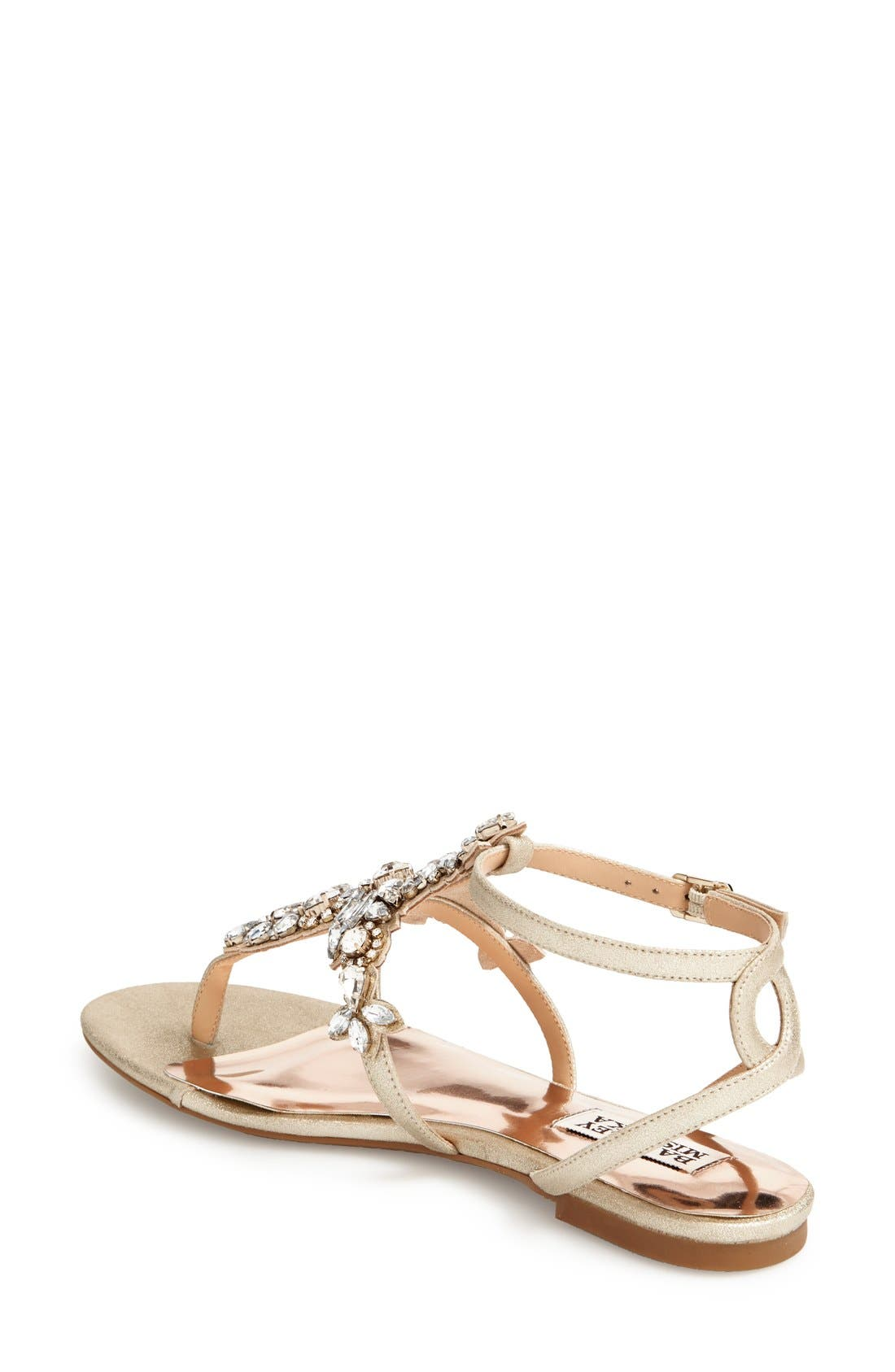 Badgley Mischka 'Cara' Crystal Embellished Flat Sandal,                             Alternate thumbnail 3, color,                             710