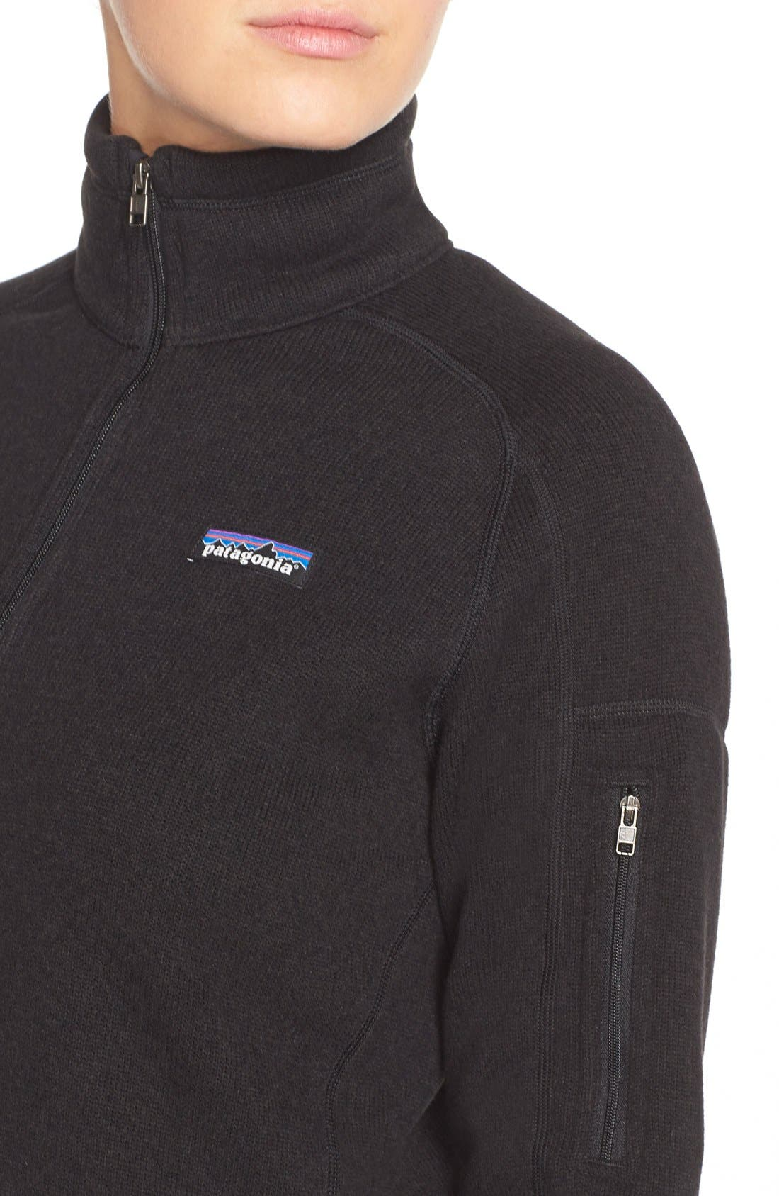 Better Sweater Zip Pullover,                             Alternate thumbnail 2, color,                             001