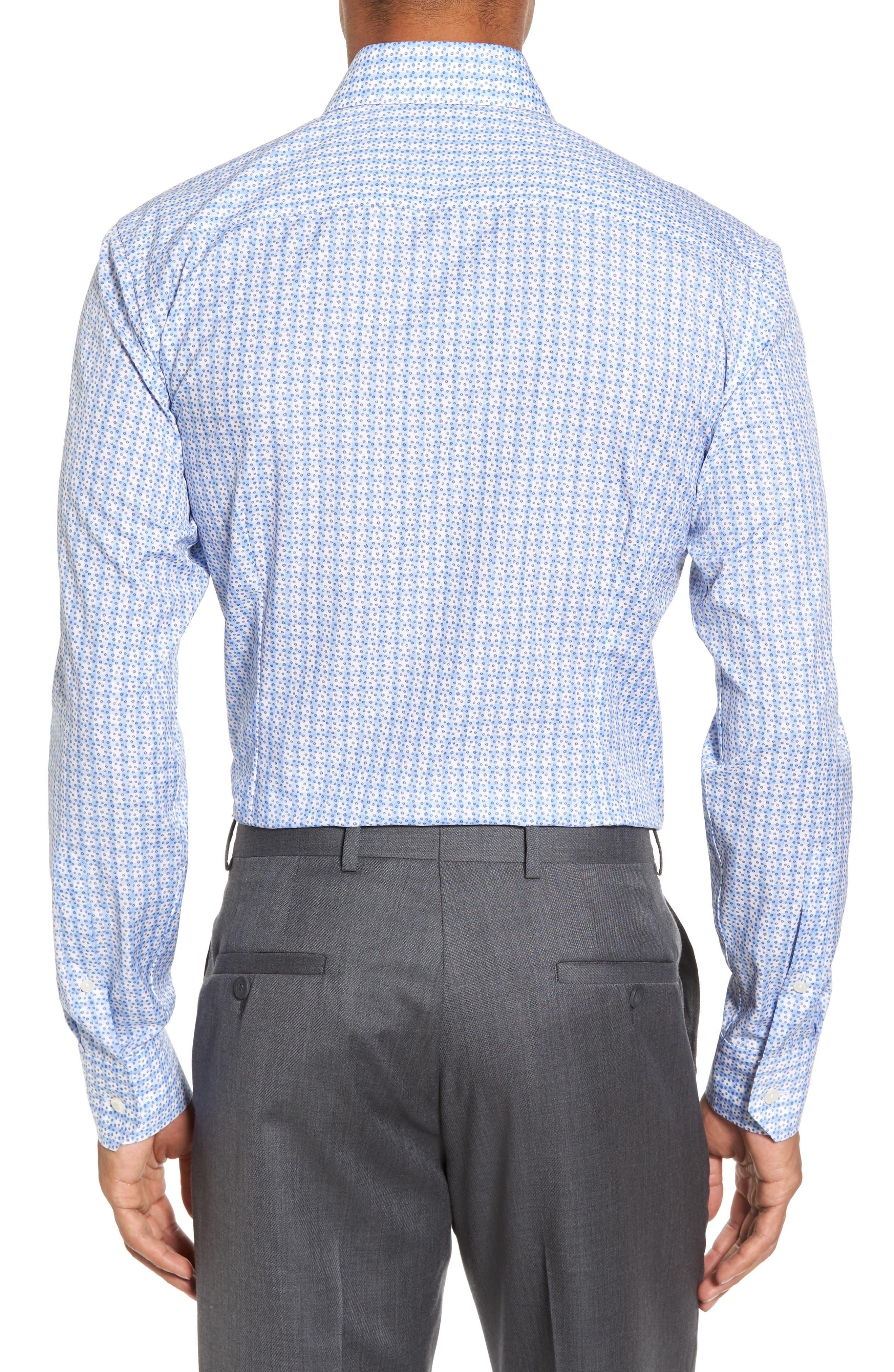 Slim Fit Geometric Dress Shirt,                             Alternate thumbnail 2, color,                             400