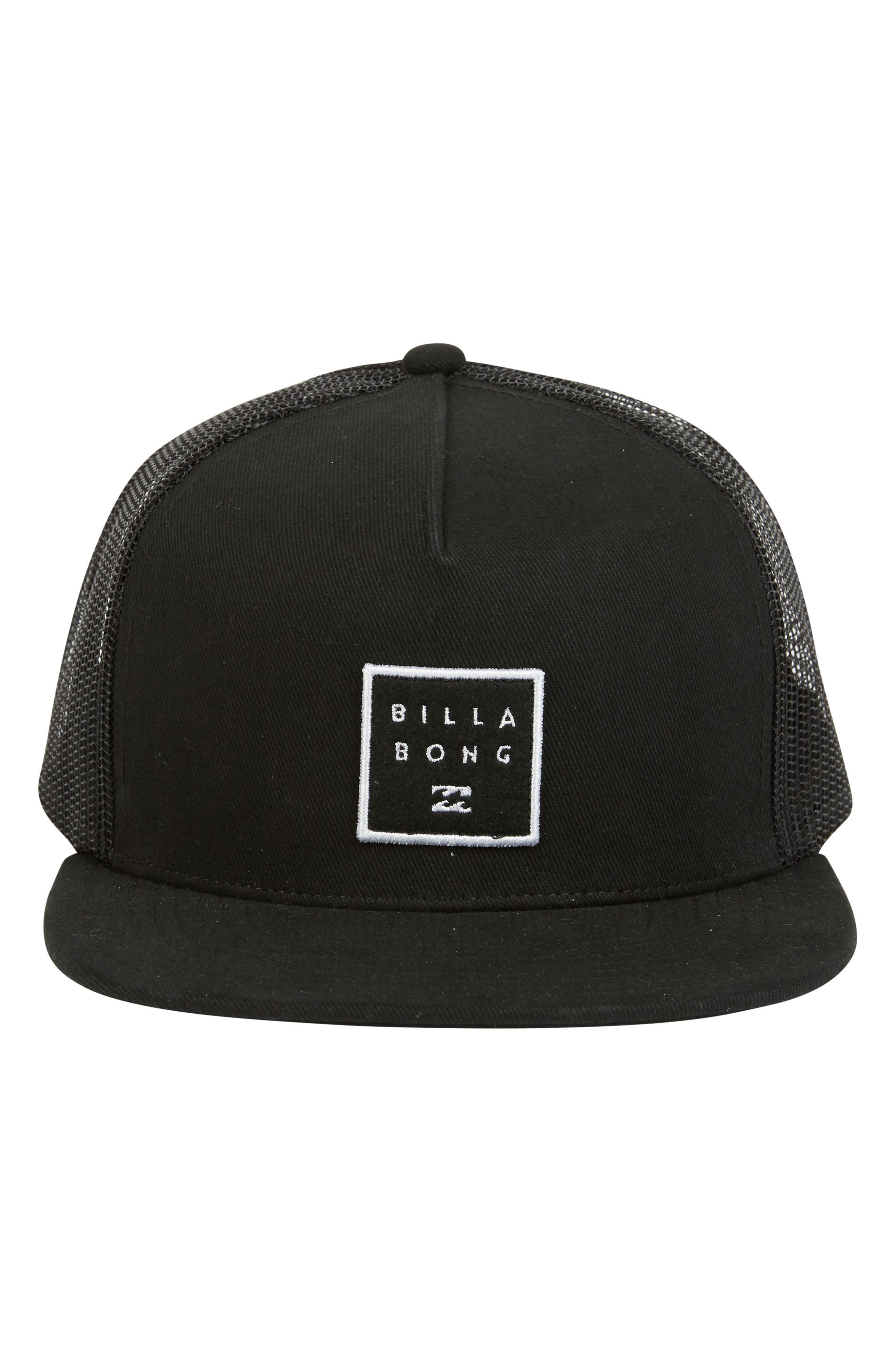 Stacked Trucker Hat,                             Alternate thumbnail 2, color,                             BLACK