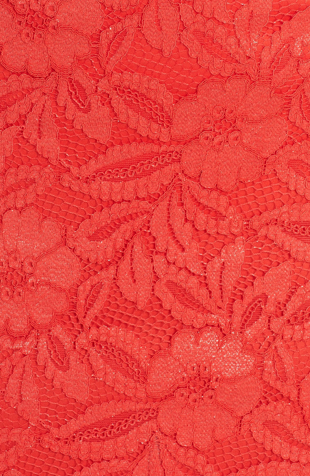 Erin Lace Midi Sheath Dress,                             Alternate thumbnail 6, color,                             RED