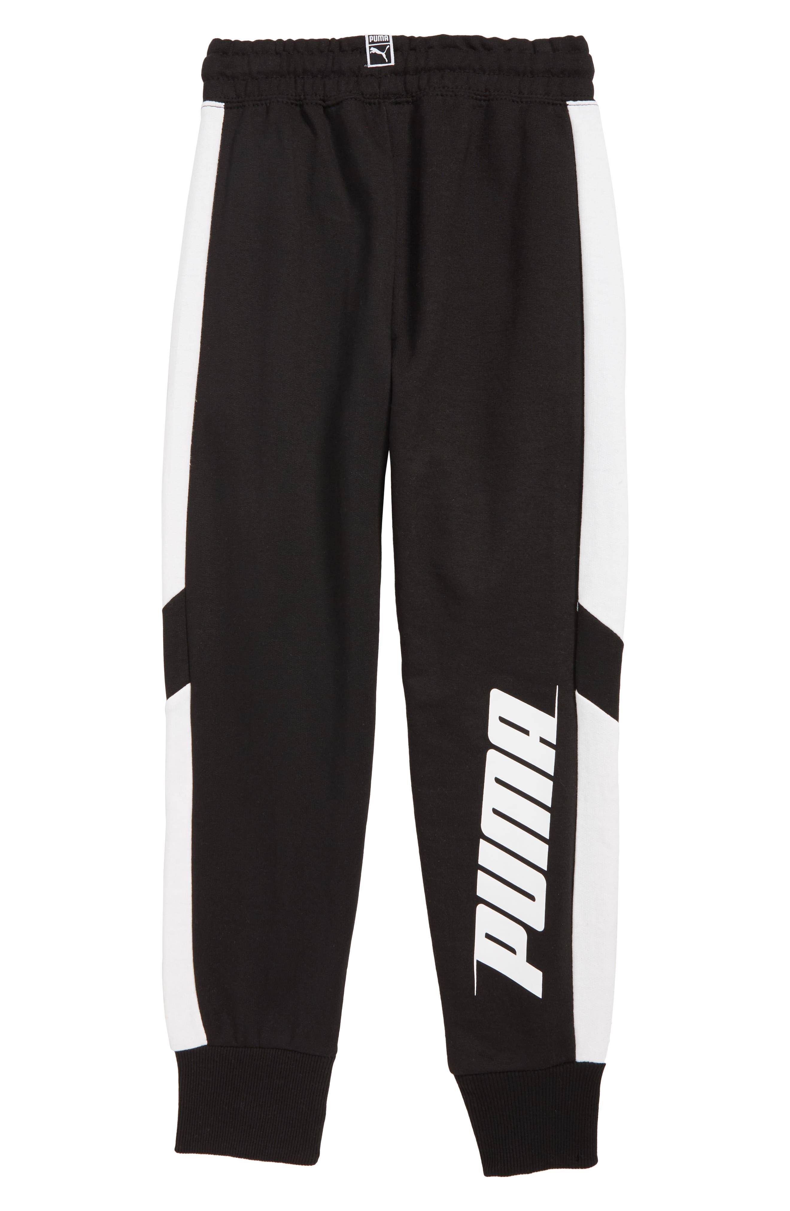 Pieced Jogger Pants,                             Alternate thumbnail 2, color,                             PUMA BLACK