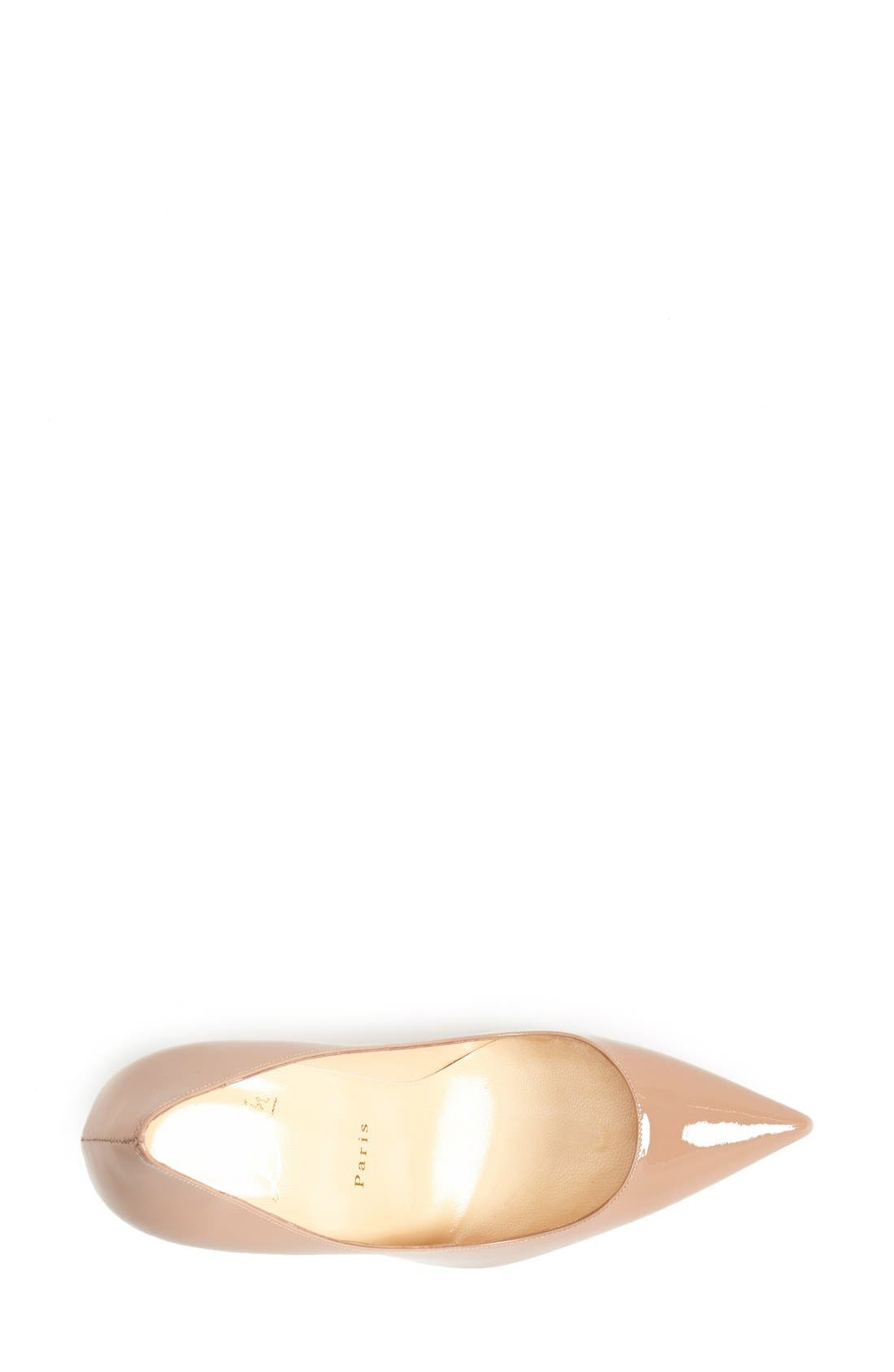 'Decollete' Pointy Toe Pump,                             Alternate thumbnail 2, color,                             NUDE