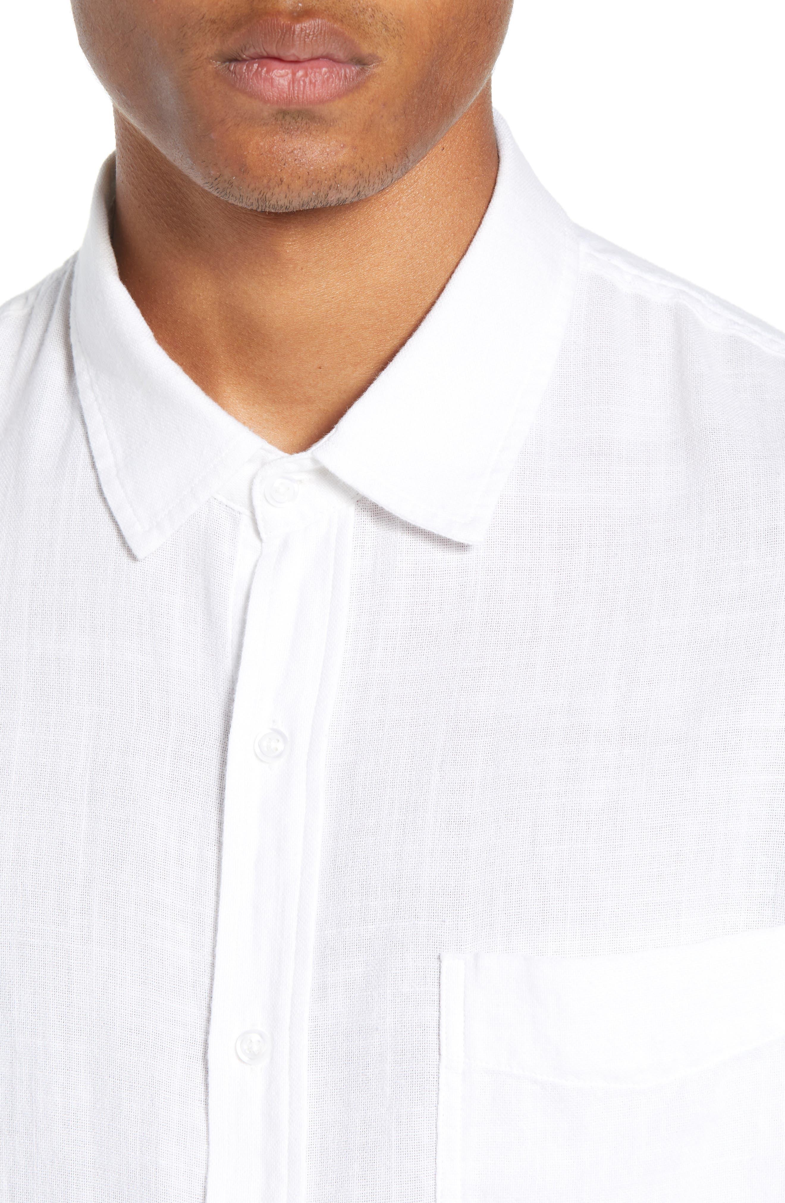 Wyatt Regular Fit Woven Shirt,                             Alternate thumbnail 2, color,                             WHITE