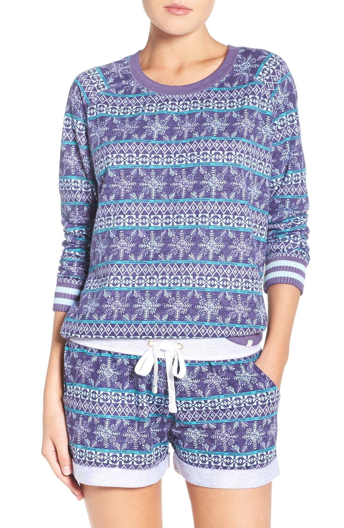 Burnout Lounge Sweatshirt,                             Alternate thumbnail 105, color,