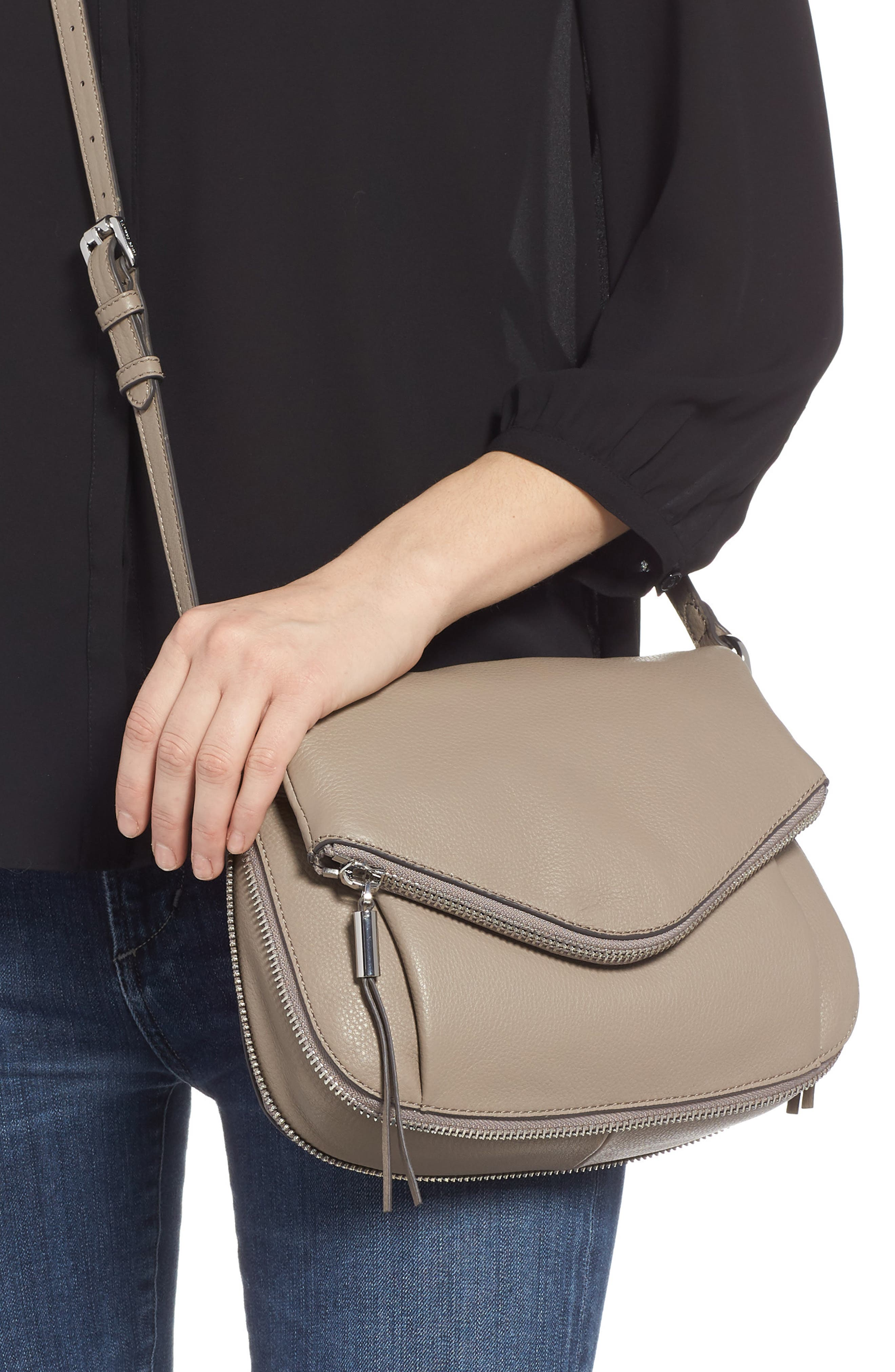 Key Leather Crossbody Bag,                             Alternate thumbnail 2, color,                             TRANQUILITY