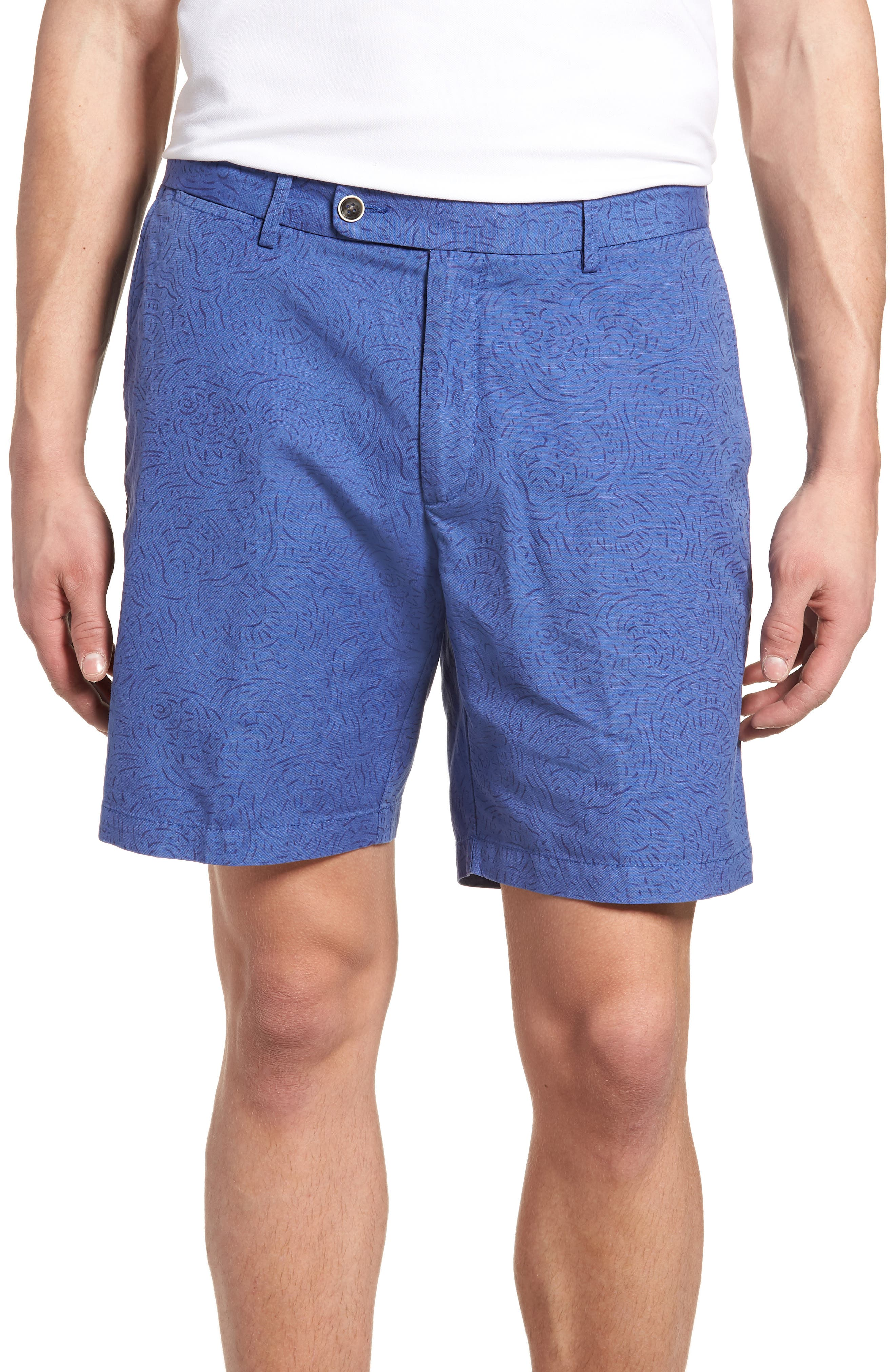 Seaside Tidal Print Shorts,                         Main,                         color, 407
