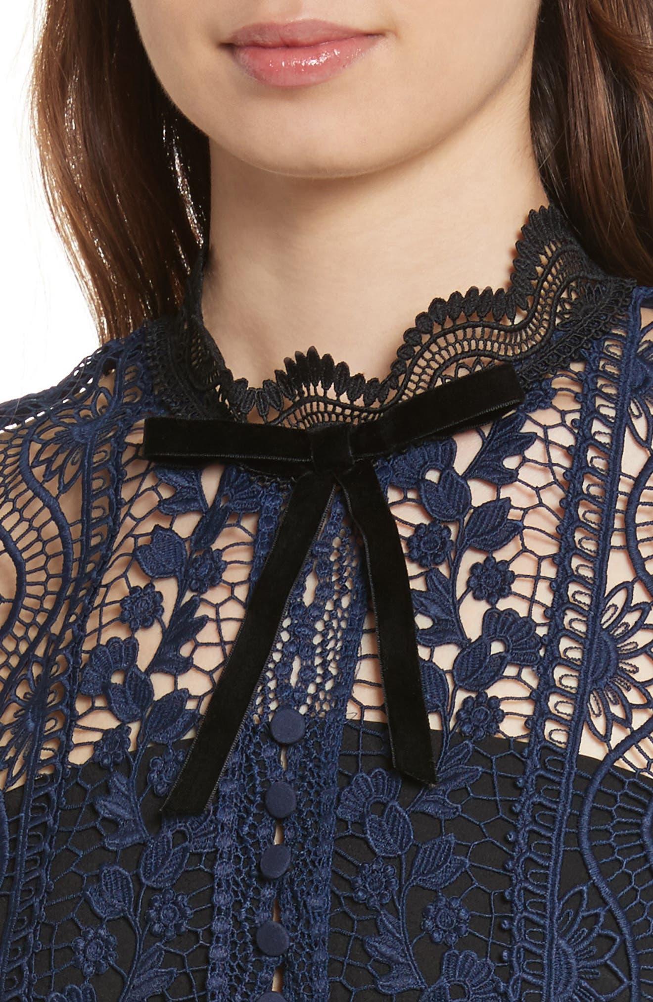 Bellis Lace Dress,                             Alternate thumbnail 4, color,                             400