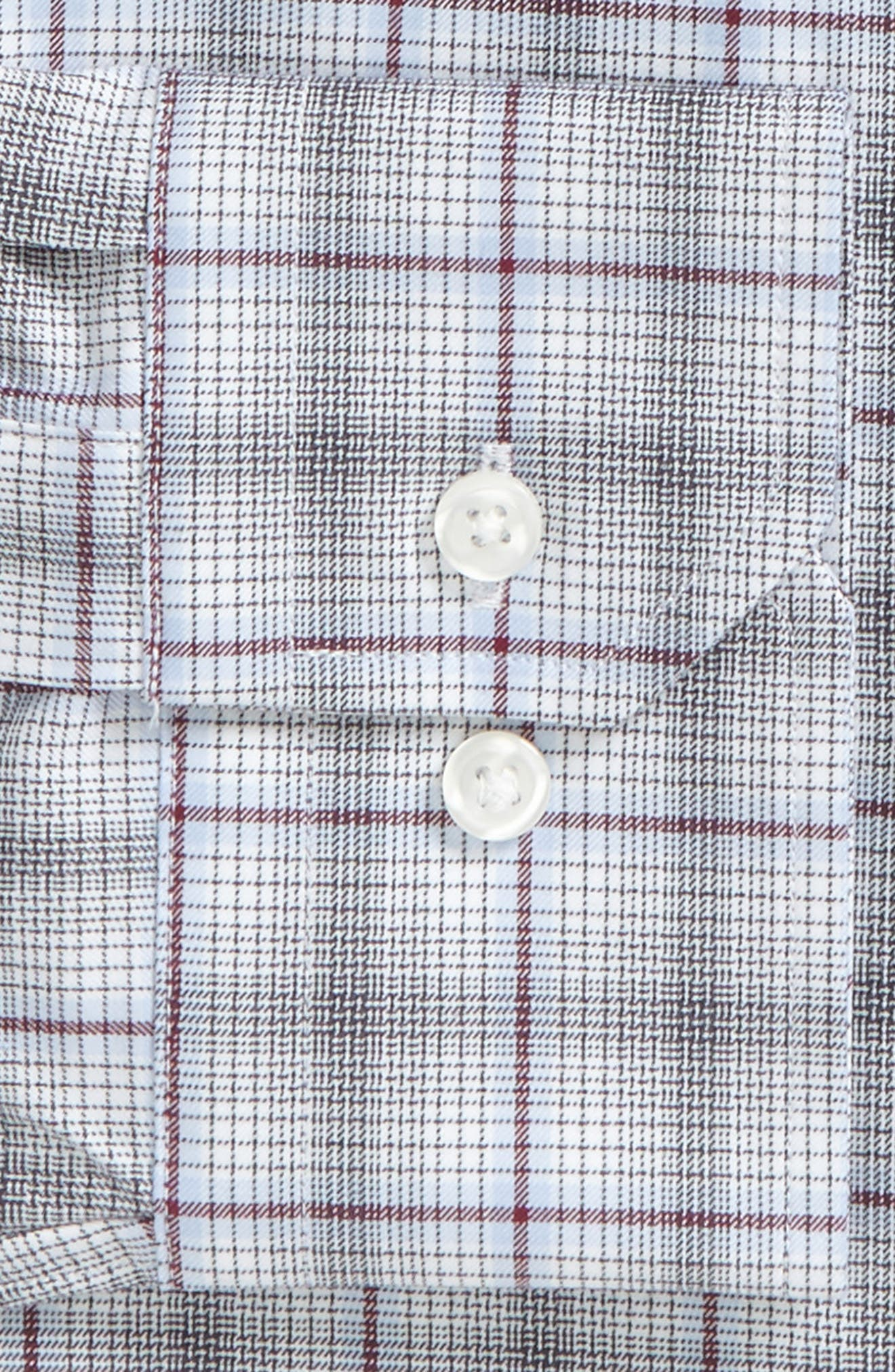 Trim Fit Plaid Dress Shirt,                             Alternate thumbnail 2, color,                             601