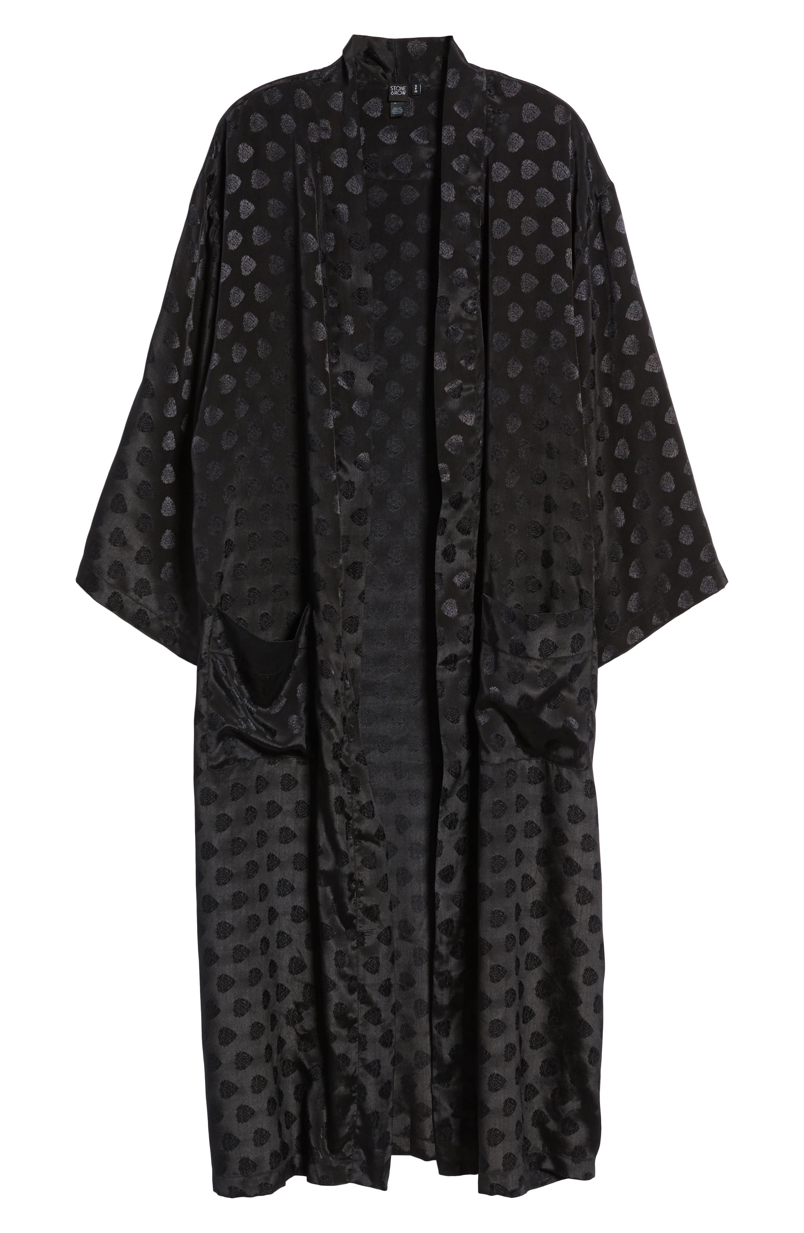 Reblogged Satin Jacquard Kimono,                             Alternate thumbnail 6, color,                             001