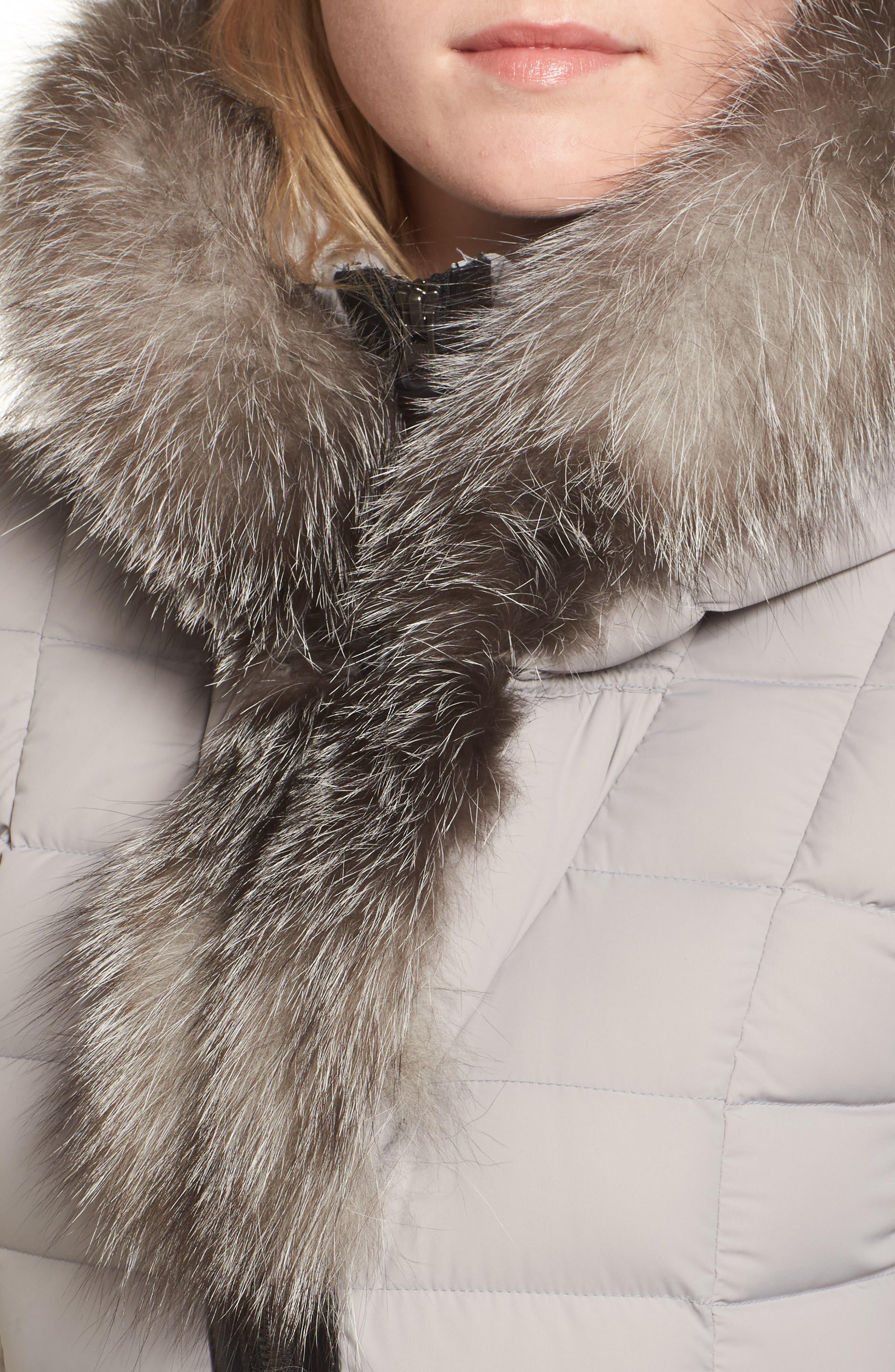 Kadalina Down Jacket with Genuine Fox Fur Trim,                             Alternate thumbnail 4, color,                             082