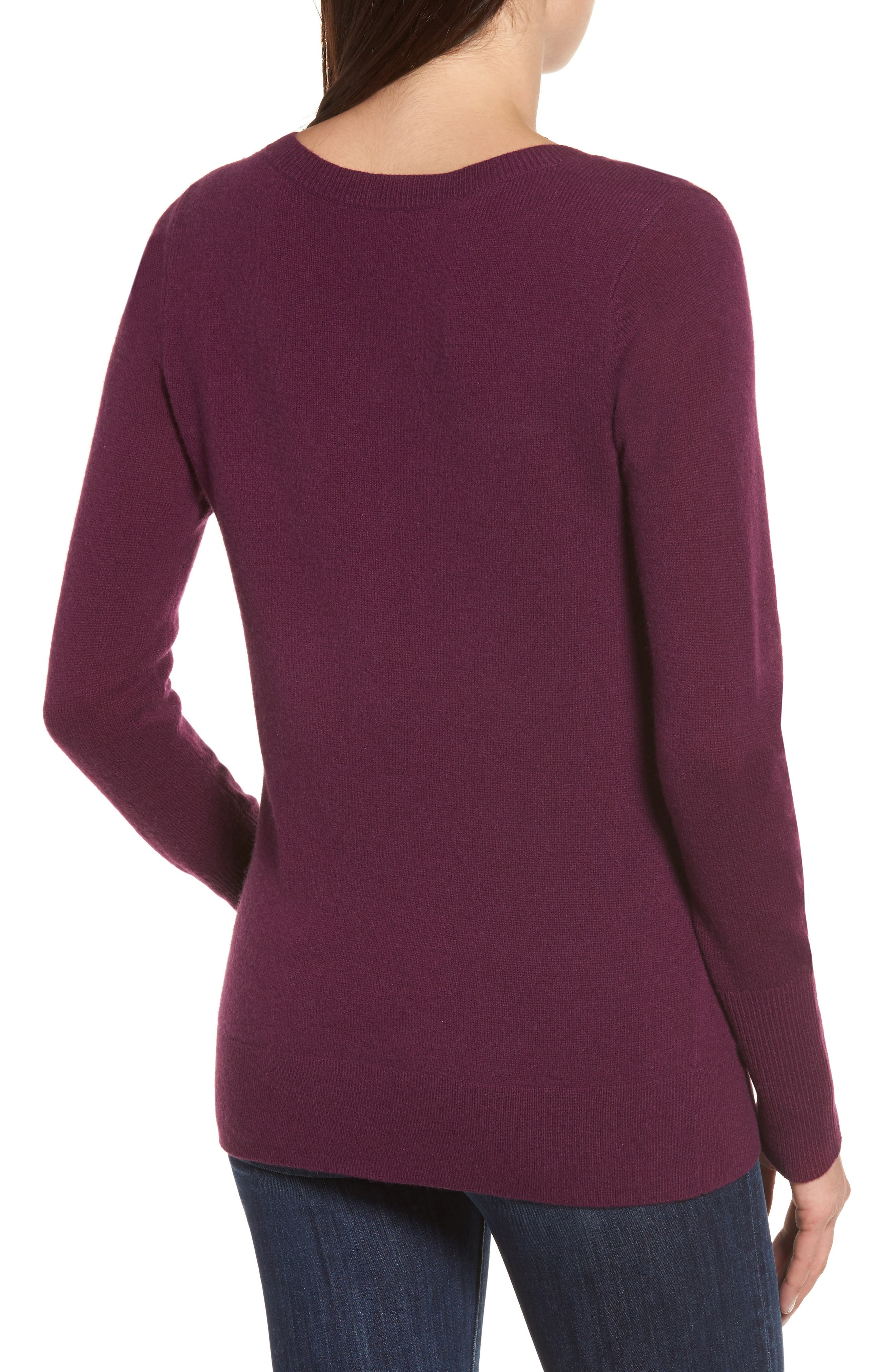 V-Neck Cashmere Sweater,                             Alternate thumbnail 26, color,