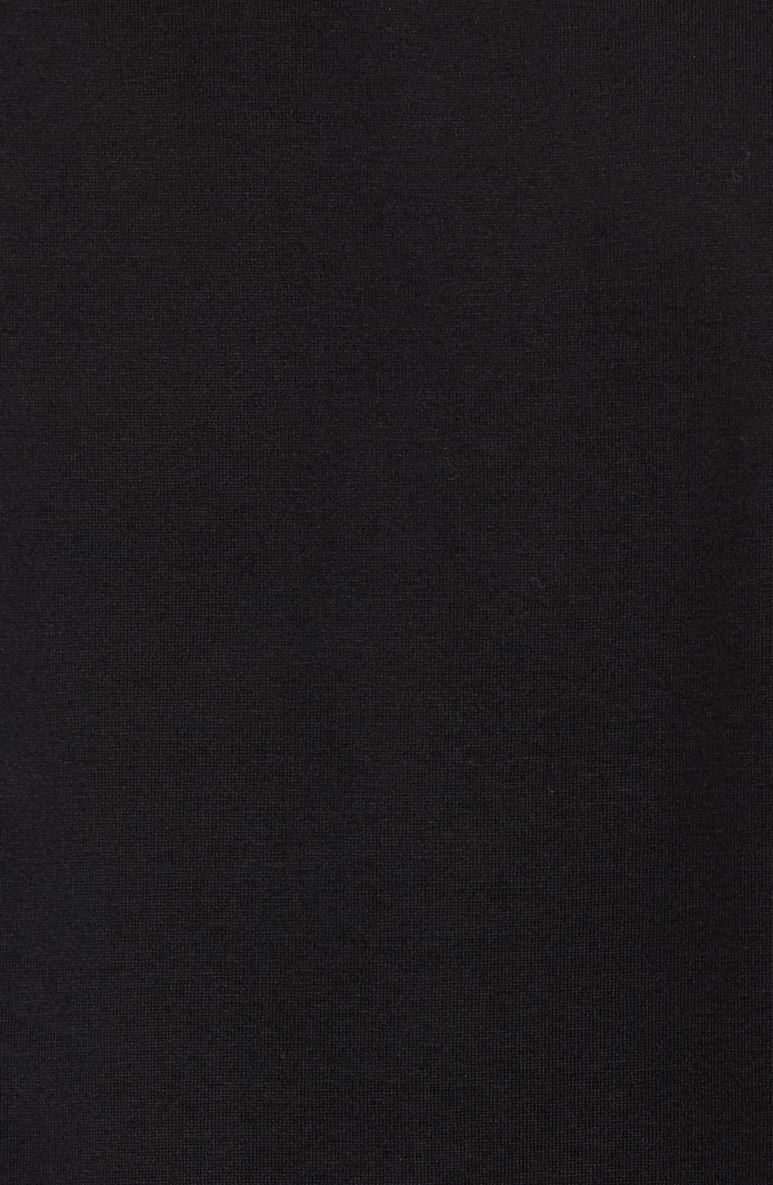 Mercerized Cotton Crewneck Long Sleeve T-Shirt,                             Alternate thumbnail 5, color,                             001
