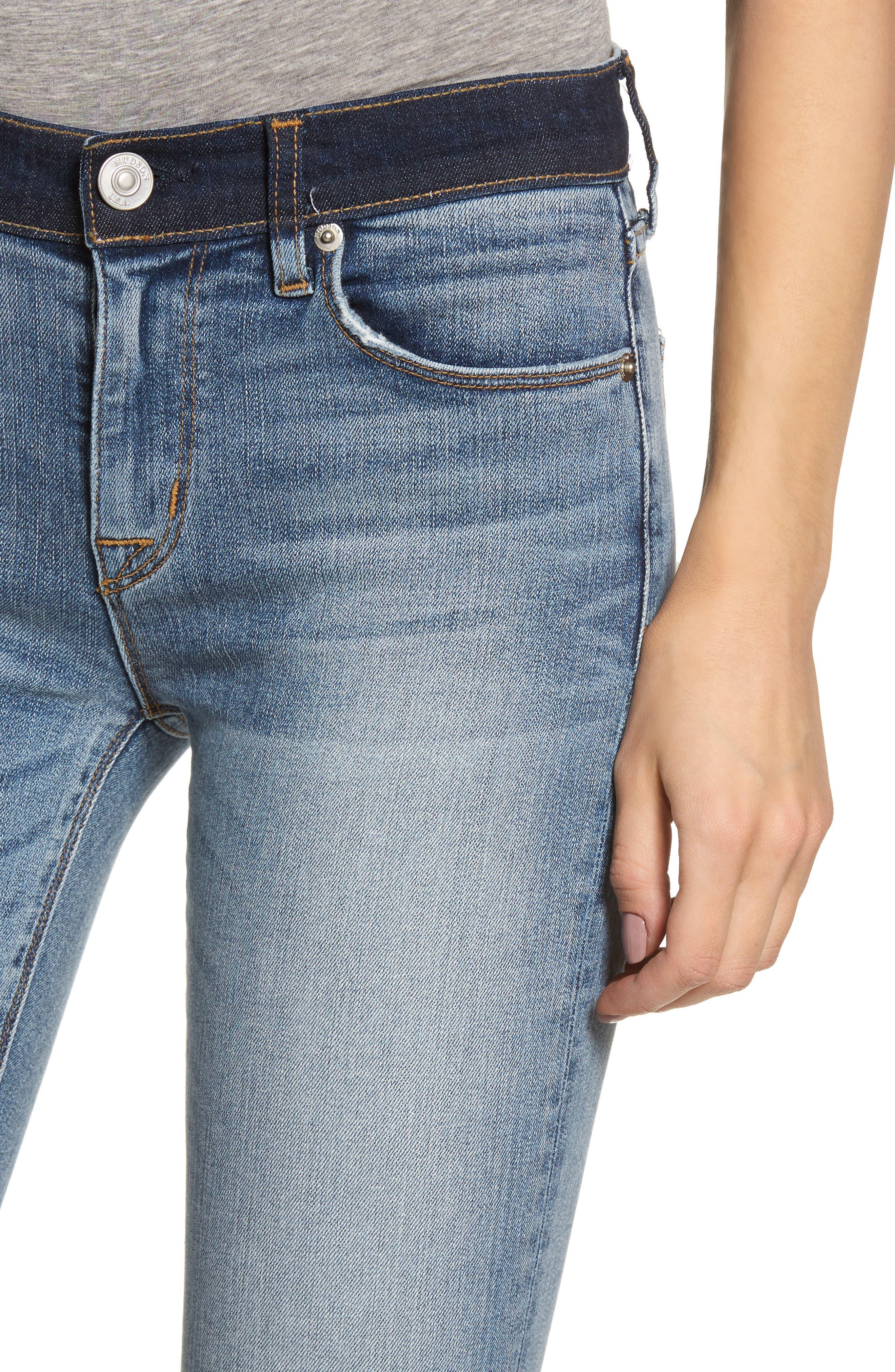 Hudson Nico Ankle Skinny Jeans,                             Alternate thumbnail 4, color,                             GAME CHANGER