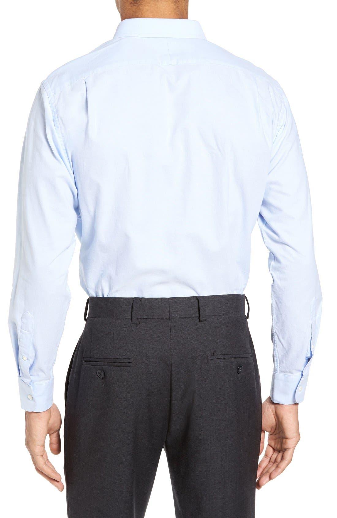 Trim Fit Solid Oxford Dress Shirt,                             Alternate thumbnail 10, color,