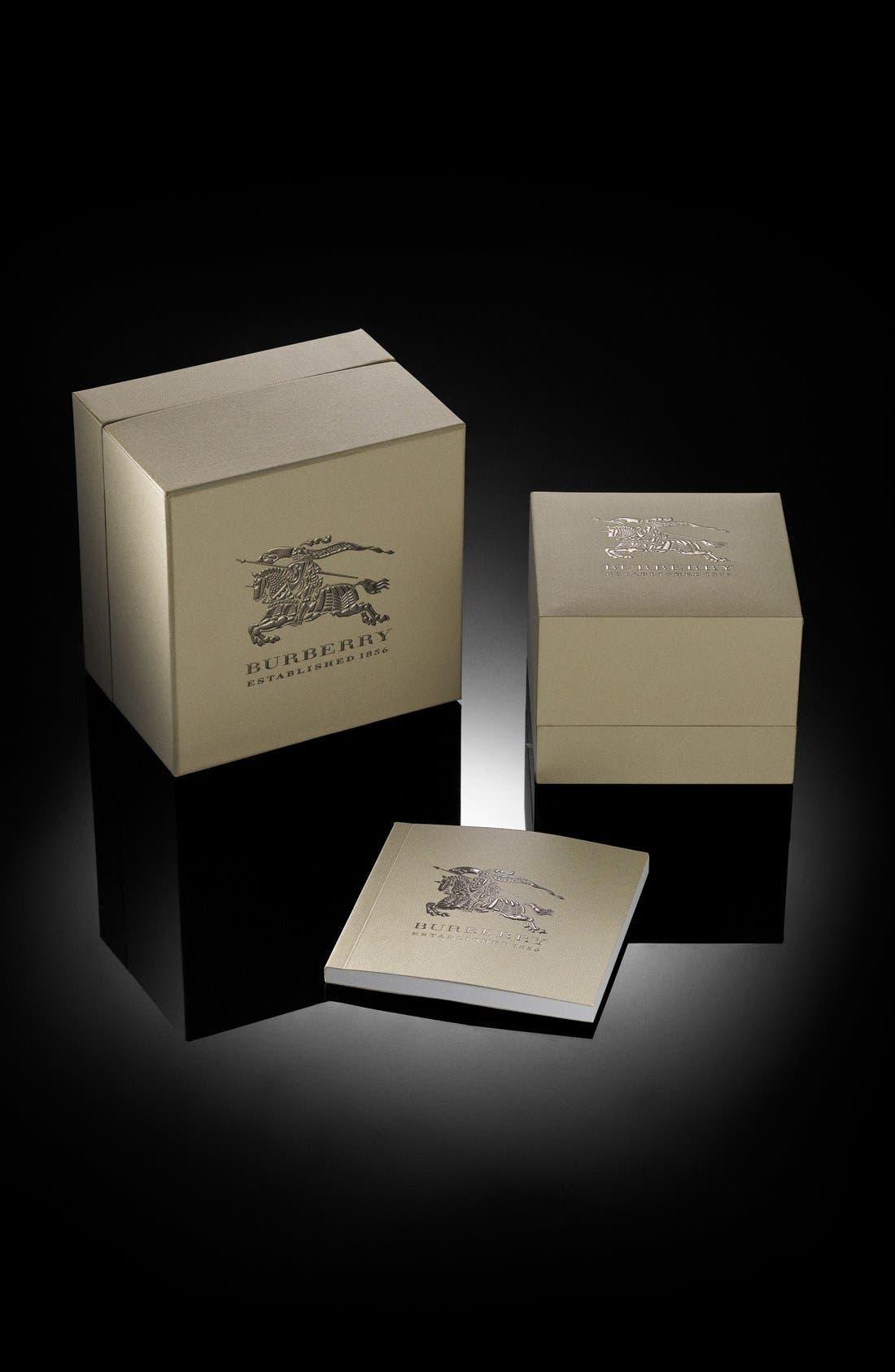 Rectangular Check Strap Watch, 25mm x 33mm,                             Alternate thumbnail 5, color,                             020