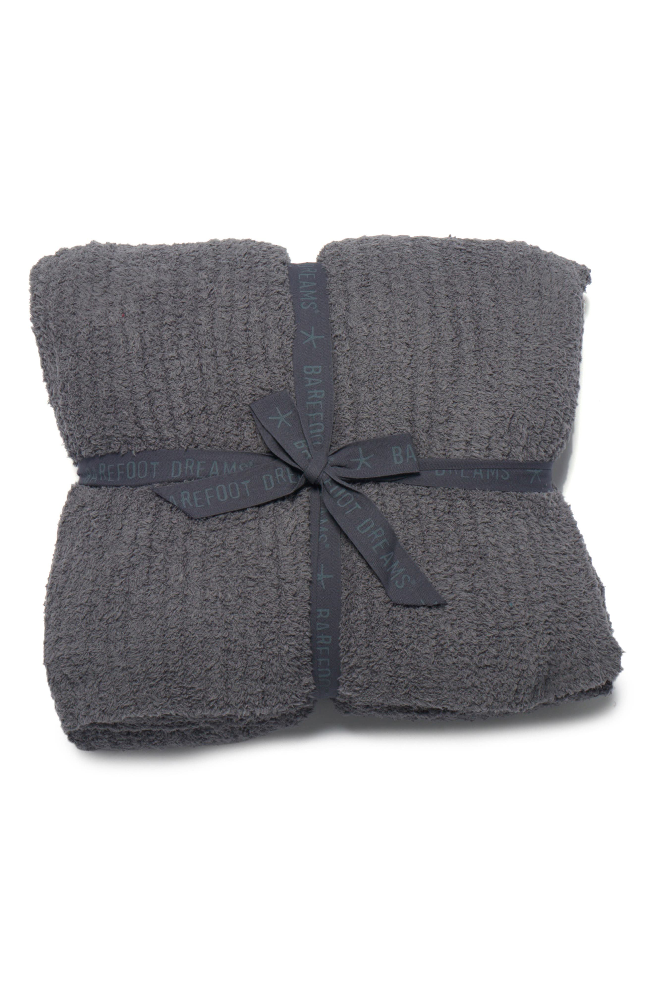 CozyChic<sup>®</sup> Ribbed Throw Blanket,                         Main,                         color, GRAPHITE