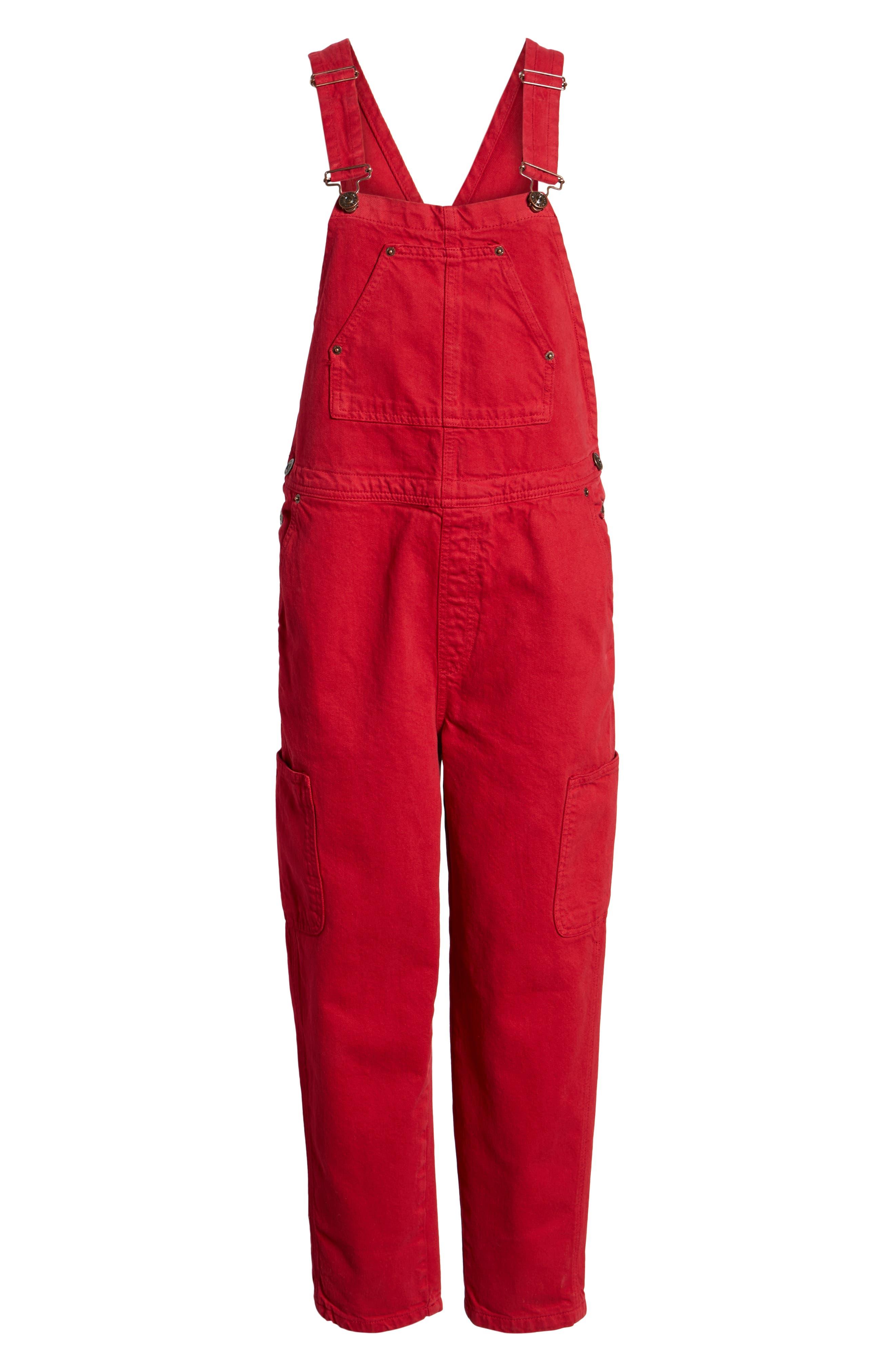 BDG,                             Urban Outfitter Straight Leg Overalls,                             Alternate thumbnail 7, color,                             600