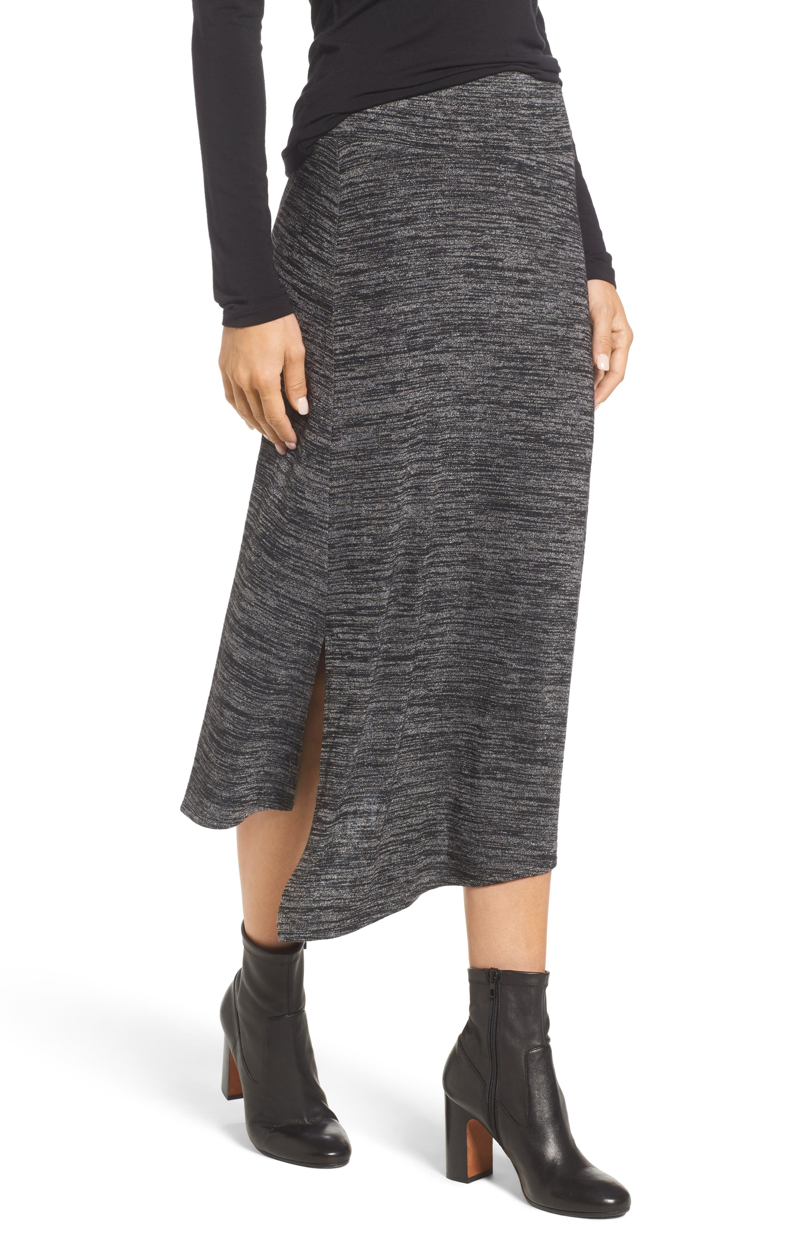 Nic + Zoe Every Occasion Faux Wrap Skirt,                             Main thumbnail 2, color,