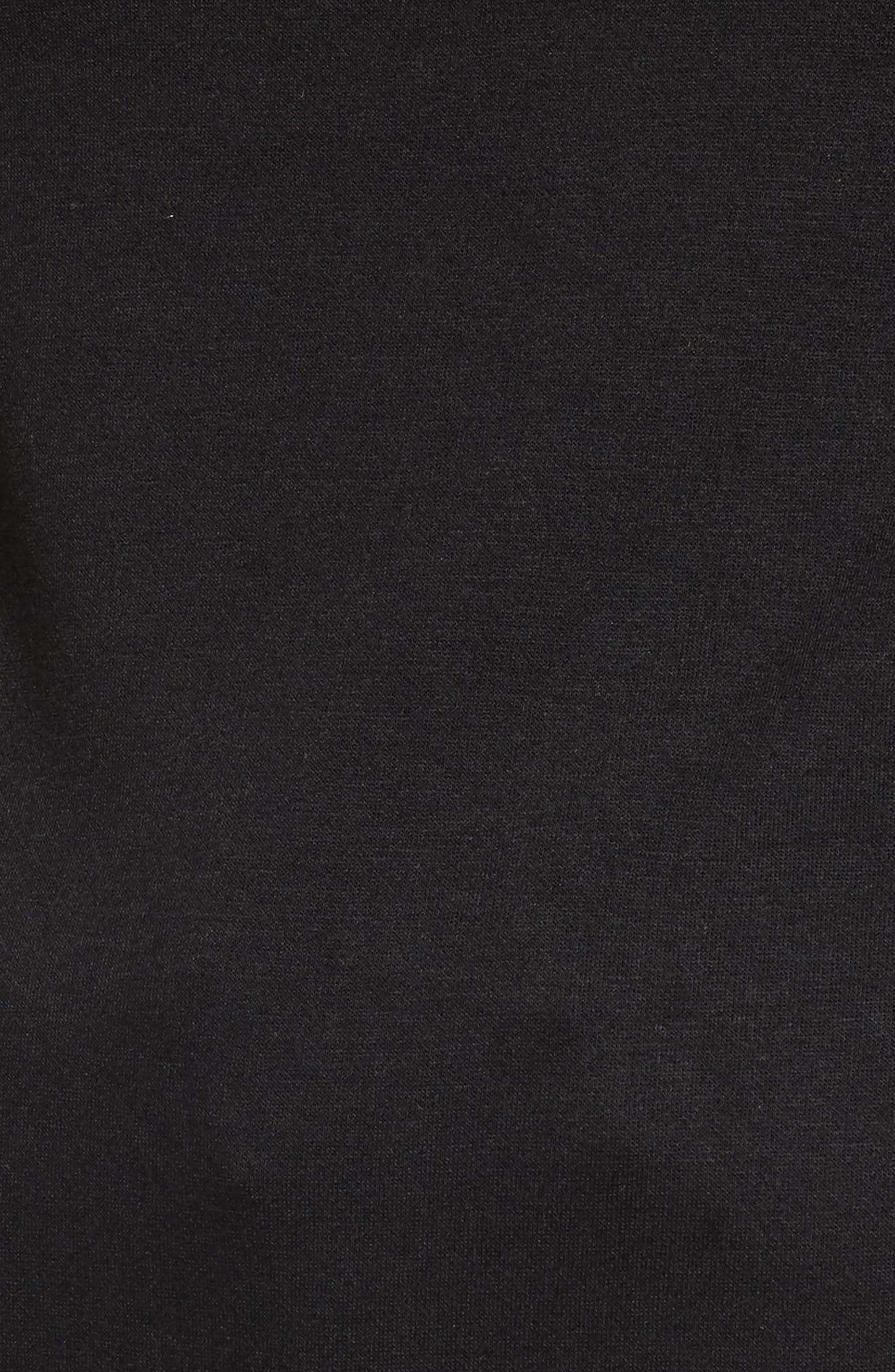 Tie Sleeve Sweater,                             Alternate thumbnail 5, color,                             001