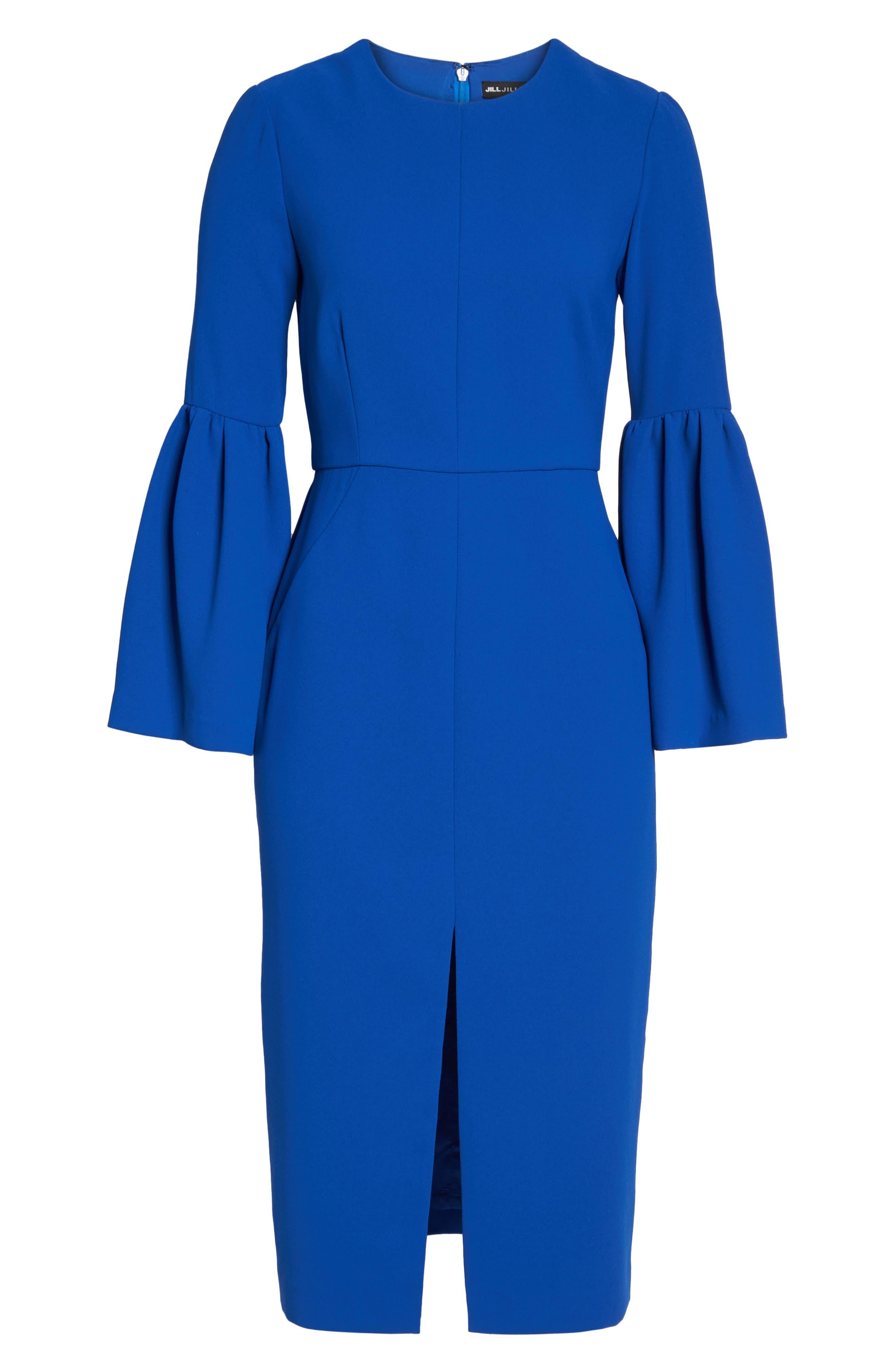 Bell Sleeve Dress,                             Alternate thumbnail 6, color,                             471