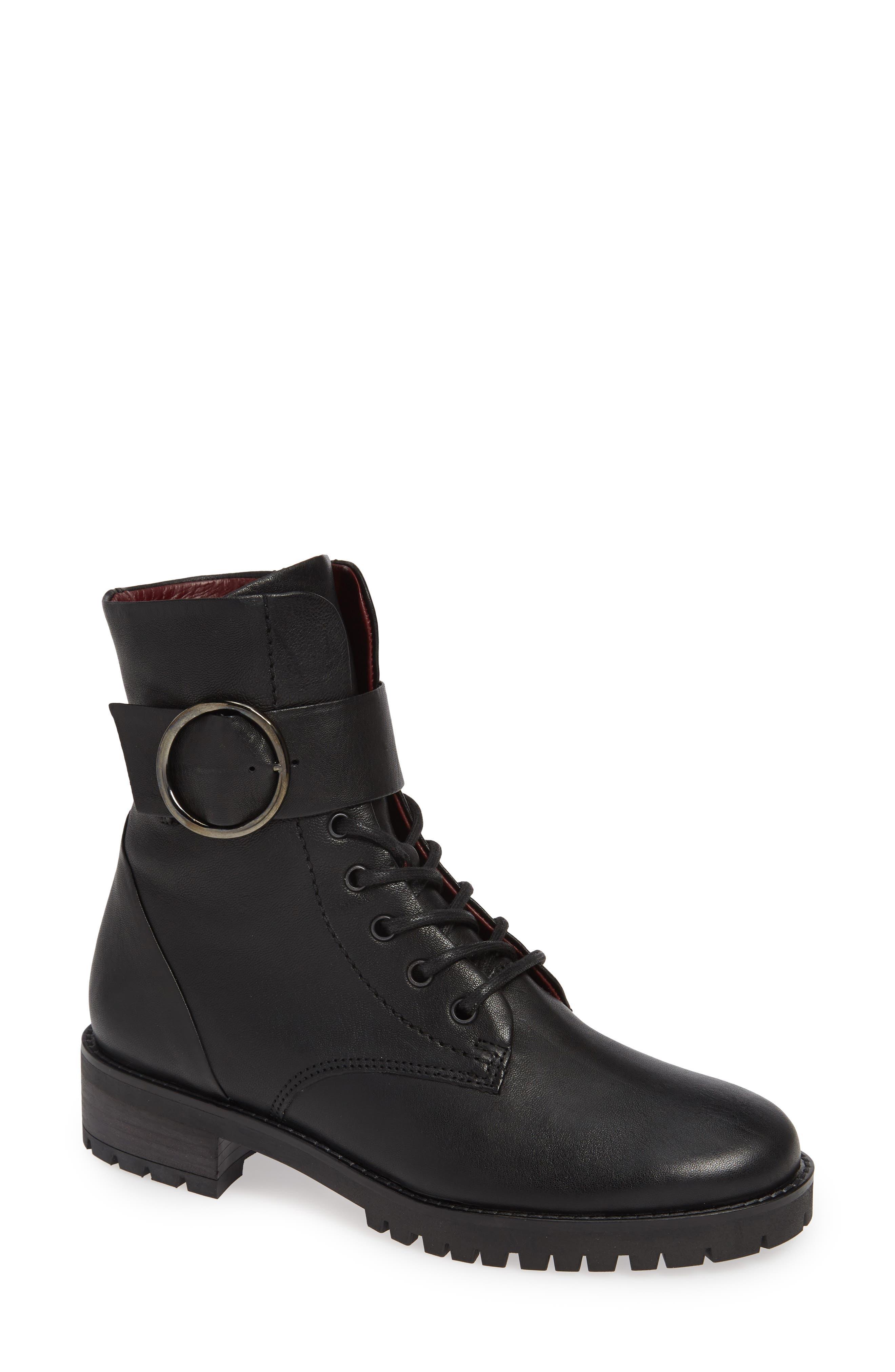 Paul Green Titan Combat Boot - Black