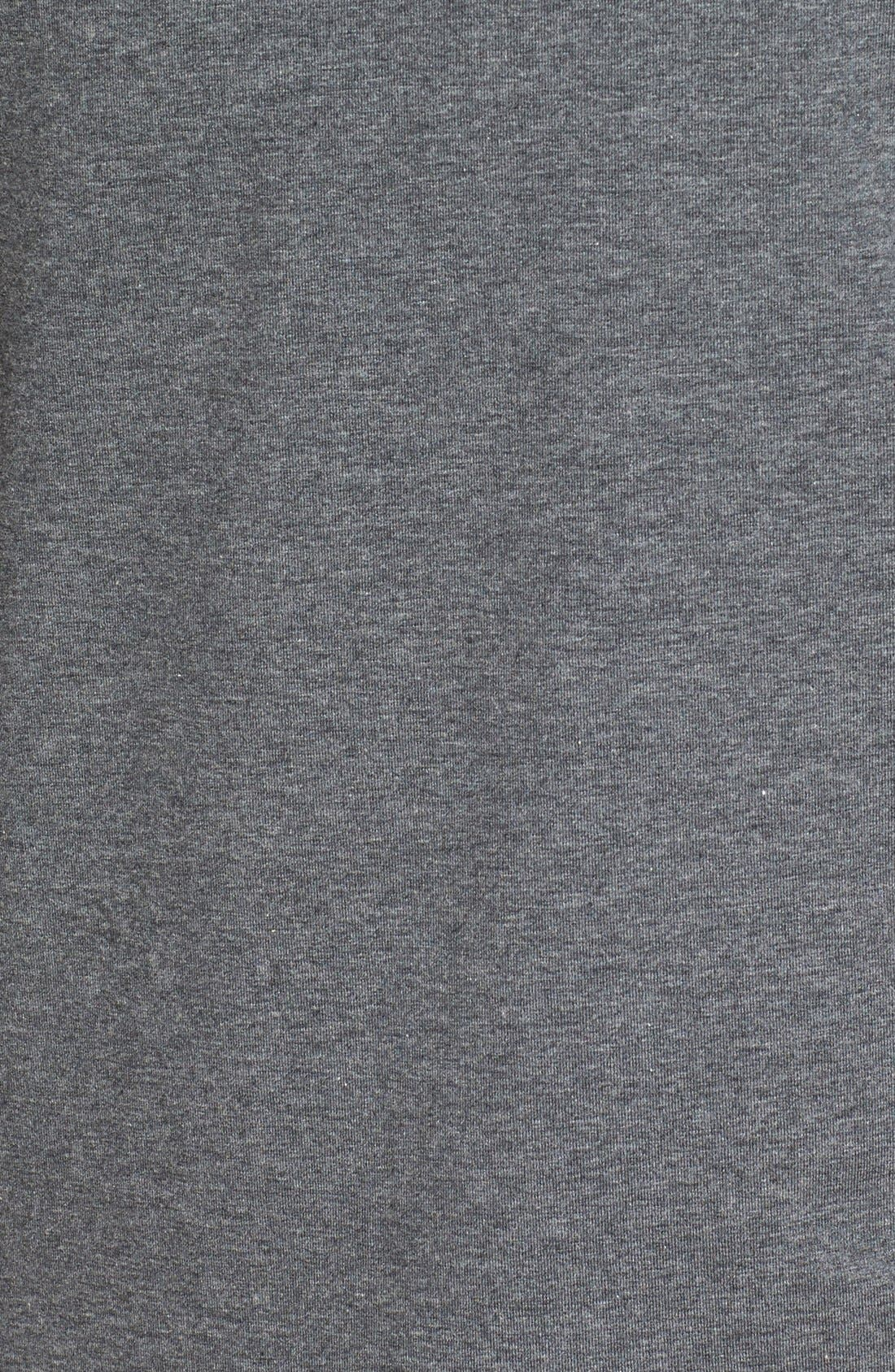 Long Sleeve Turtleneck T-Shirt,                             Alternate thumbnail 5, color,                             CHARCOAL