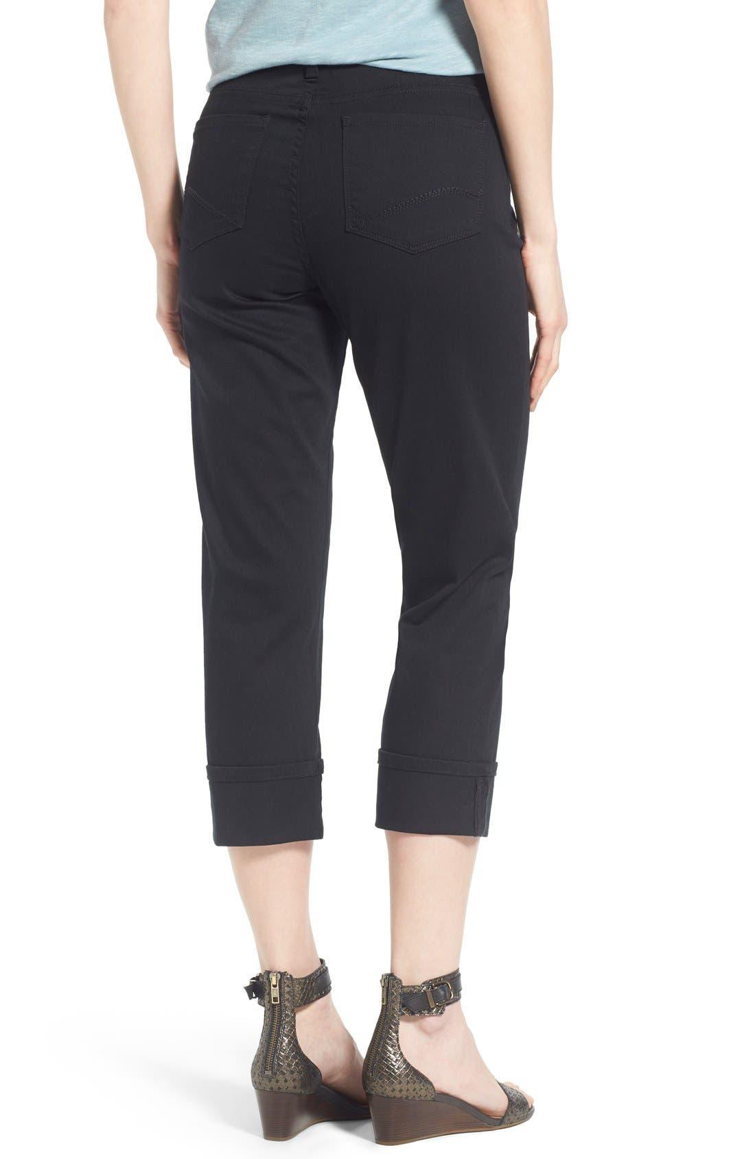 'Dayla' Colored Wide Cuff Capri Jeans,                             Alternate thumbnail 2, color,                             001