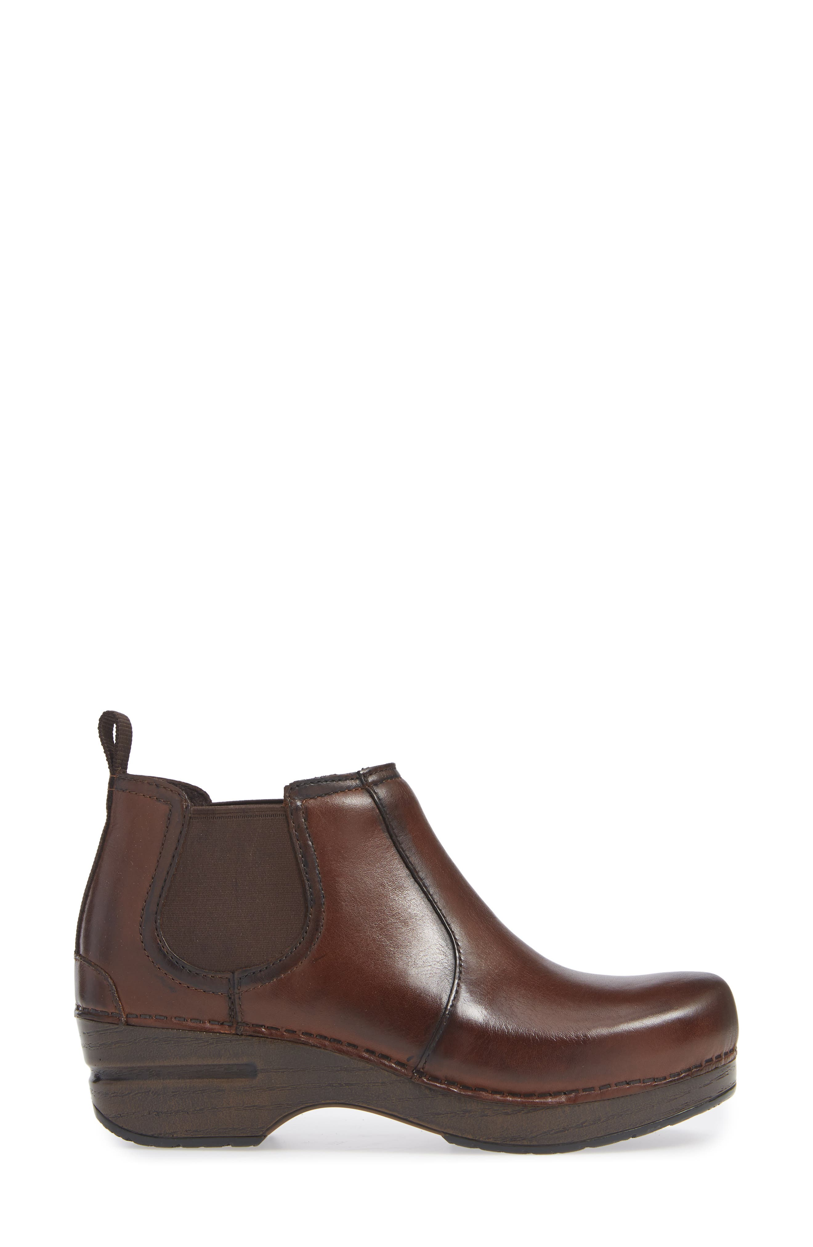 Frankie Bootie,                             Alternate thumbnail 3, color,                             BROWN LEATHER