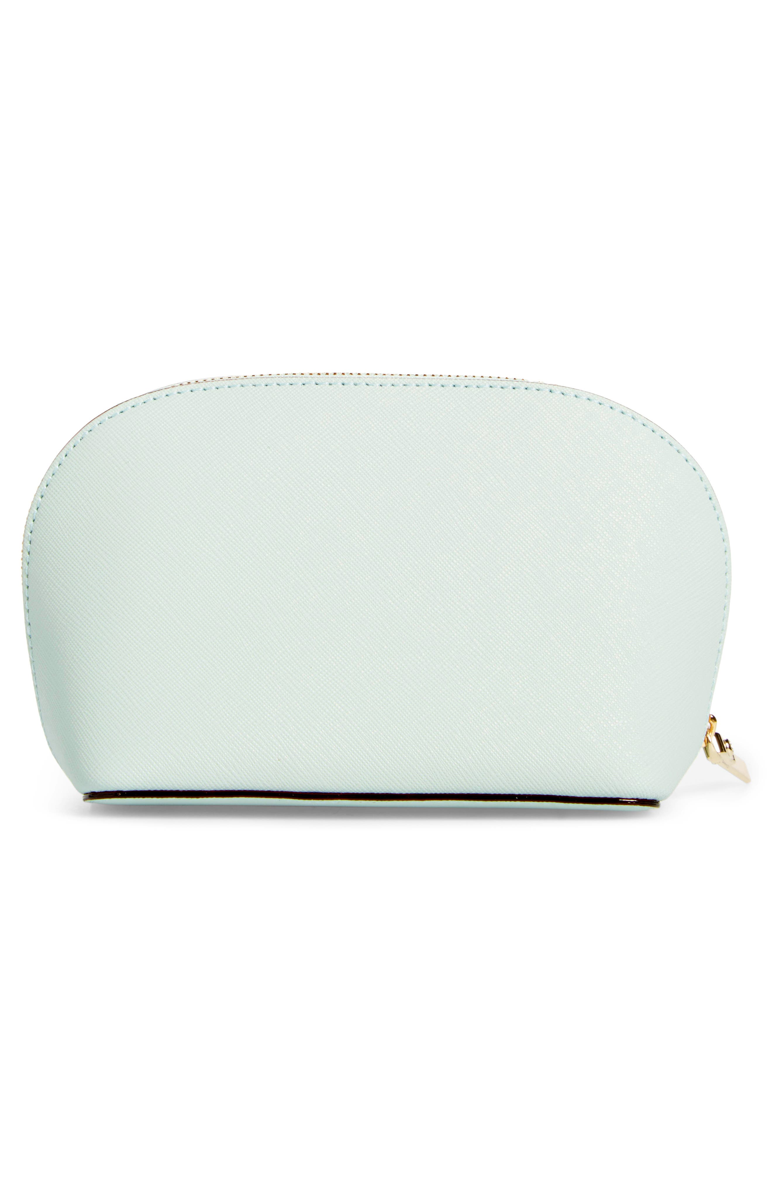 cameron street - small abalene leather cosmetics bag,                             Alternate thumbnail 2, color,                             302