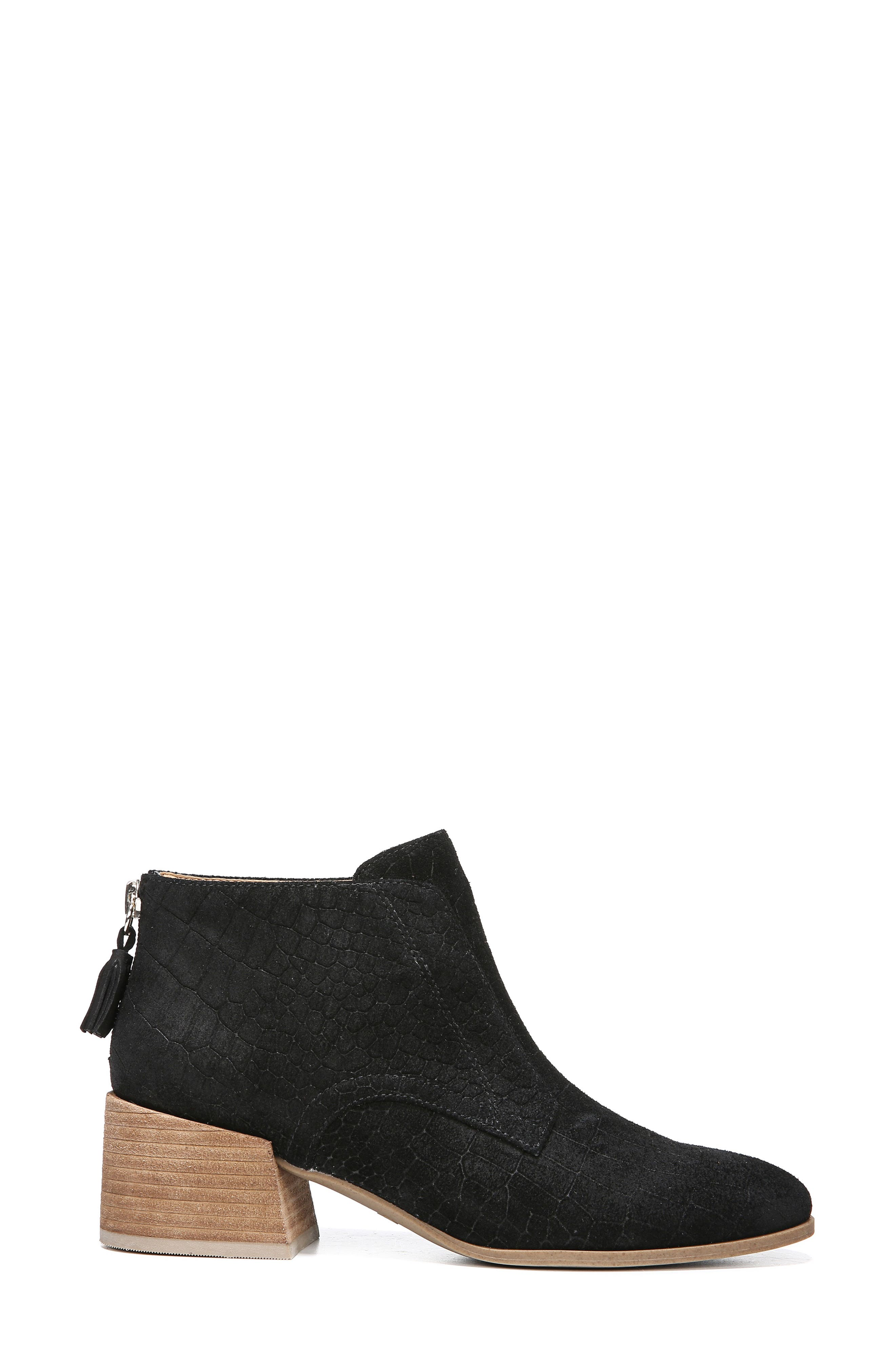 Bianca Bootie,                             Alternate thumbnail 3, color,                             BLACK LEATHER