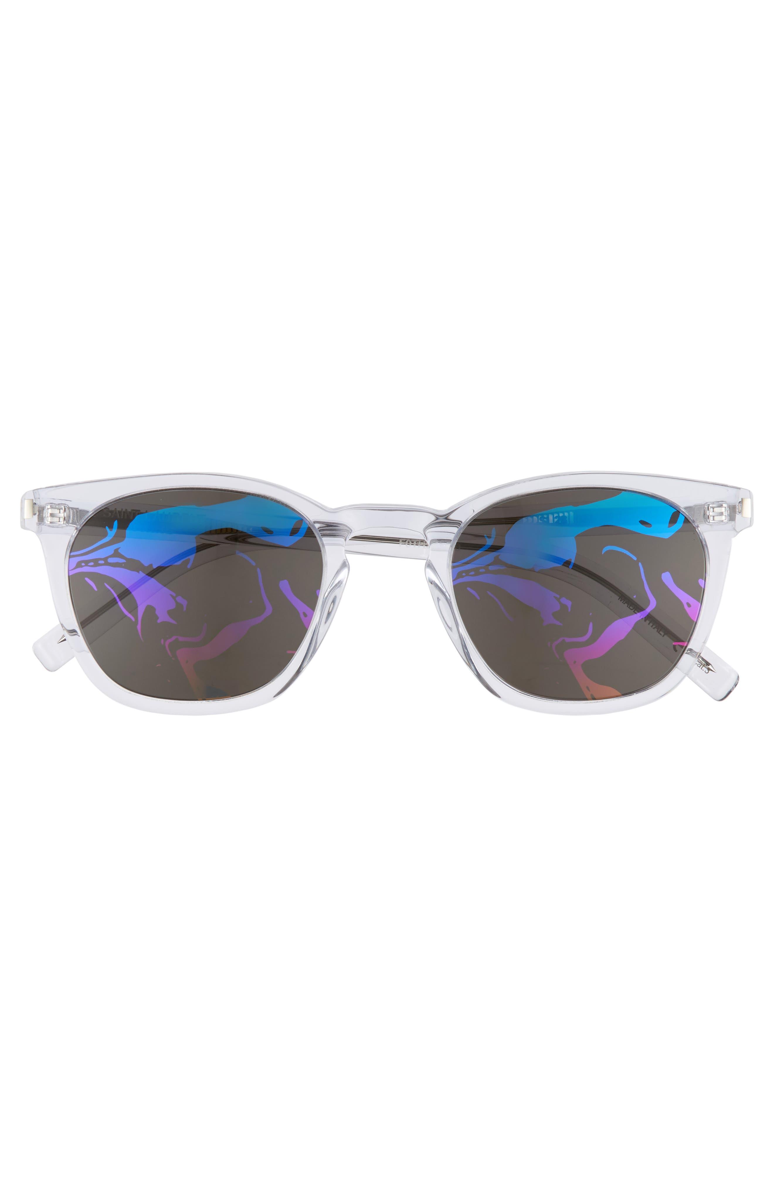 SL28 49mm Sunglasses,                             Alternate thumbnail 3, color,                             CRYSTAL