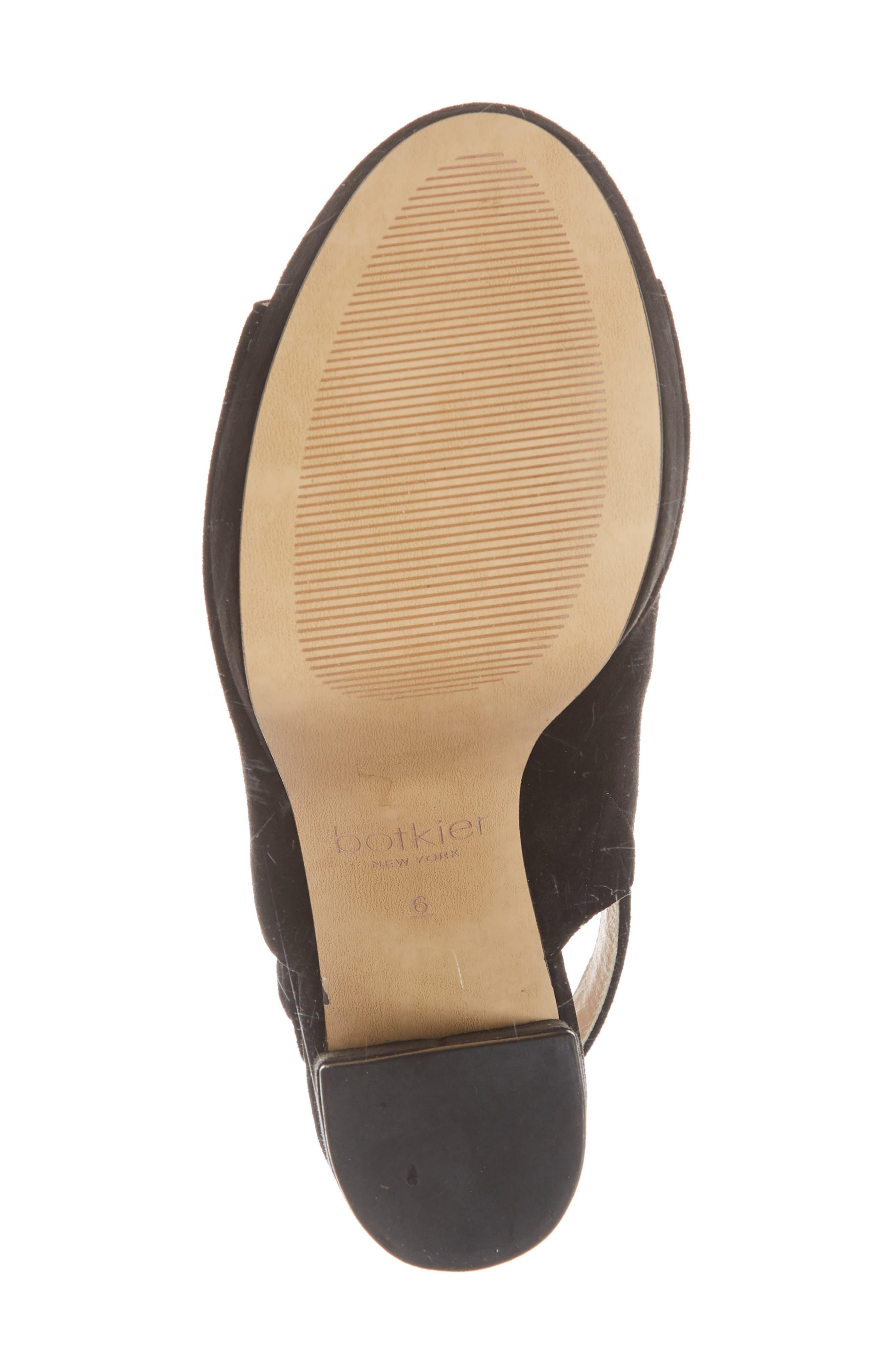 Jolene Platform Sandal,                             Alternate thumbnail 6, color,                             BLACK SUEDE