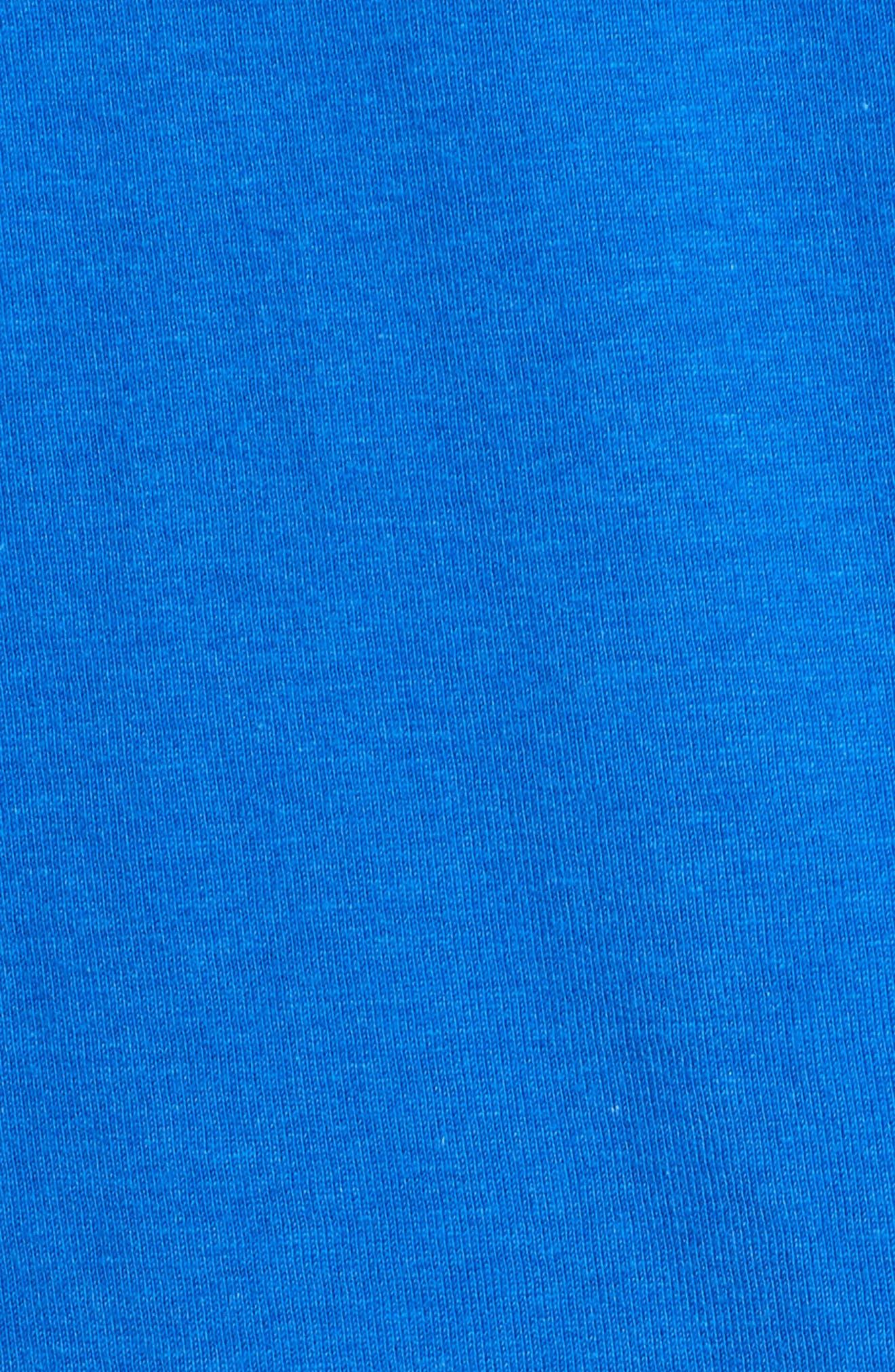 Classic Logo T-Shirt,                             Alternate thumbnail 5, color,                             ROYAL/ WHITE