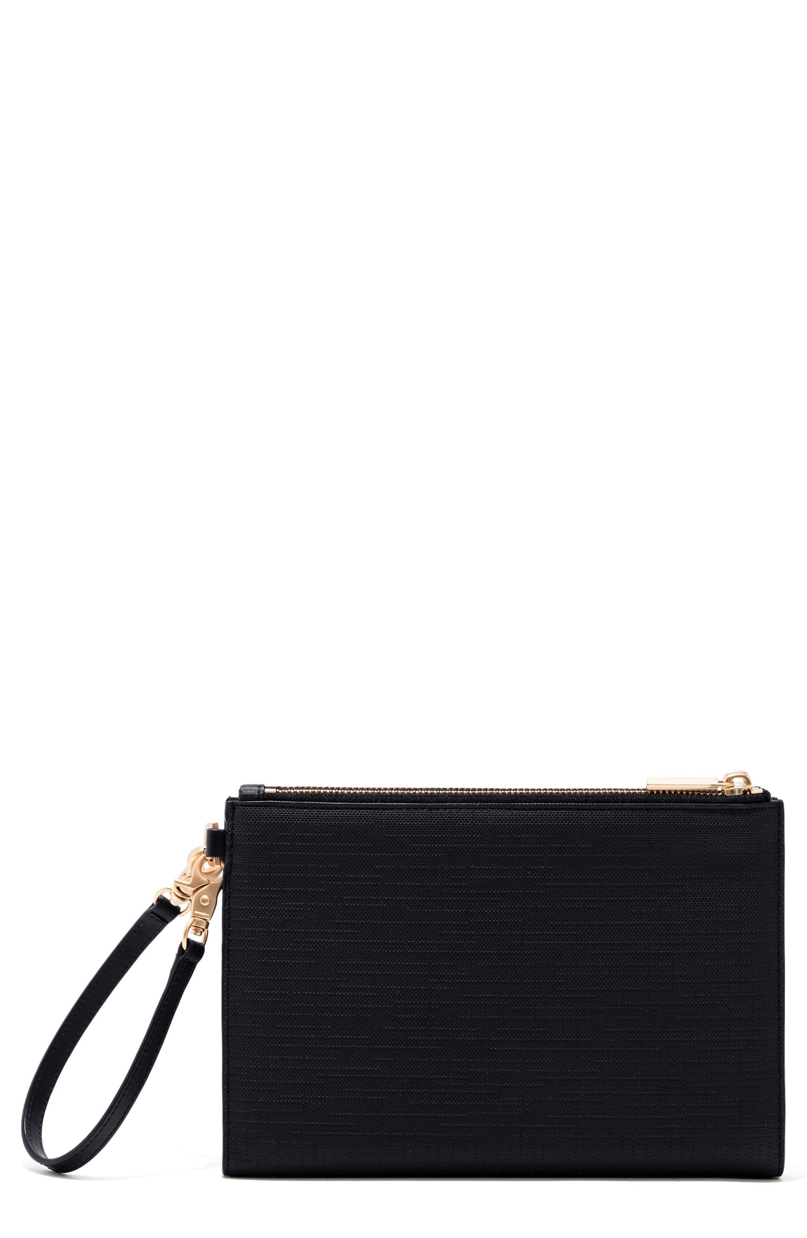 Signature Essentials Coated Canvas Clutch/Wallet,                         Main,                         color, ONYX