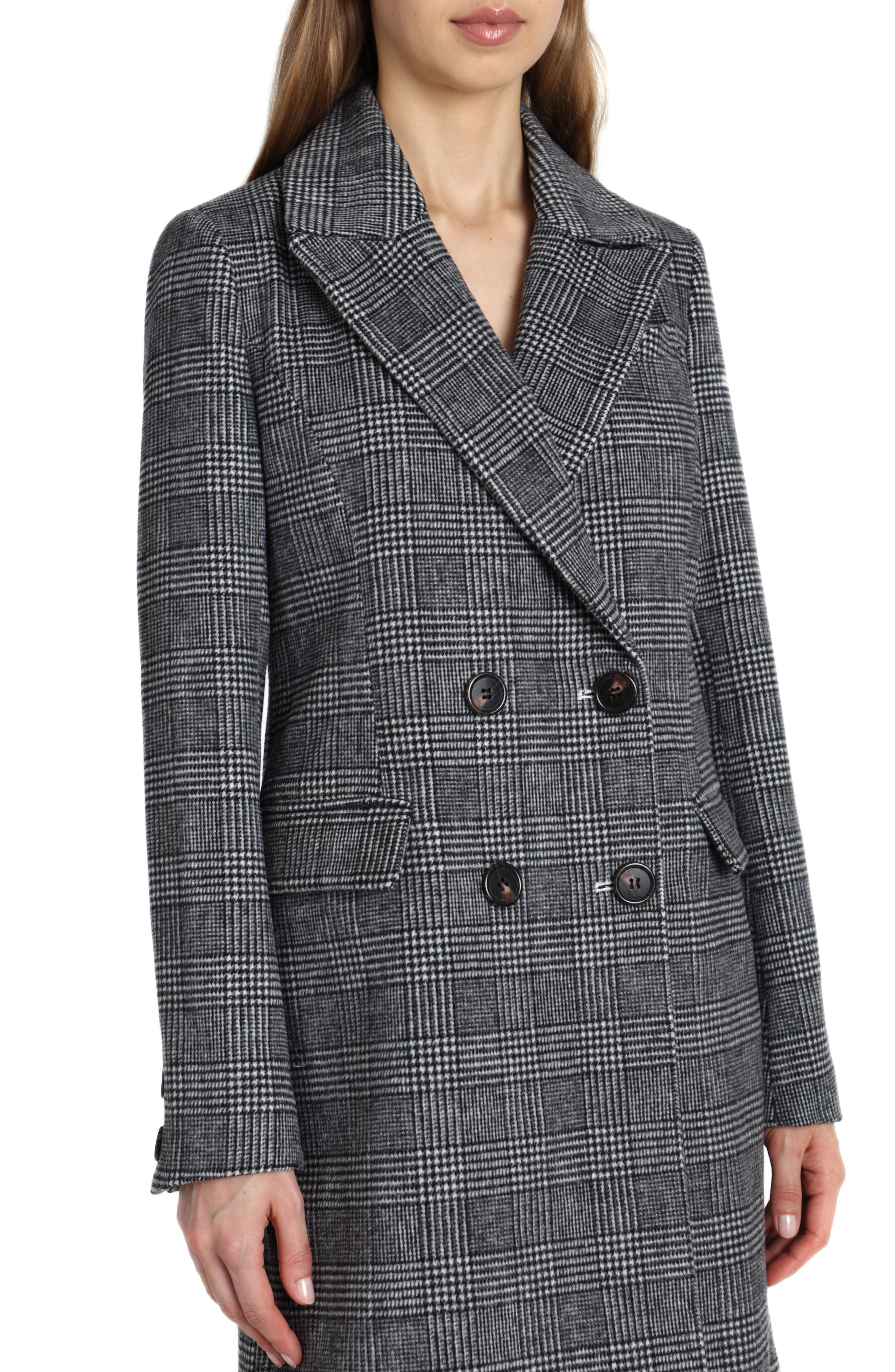 Plaid Coat,                             Alternate thumbnail 3, color,                             005