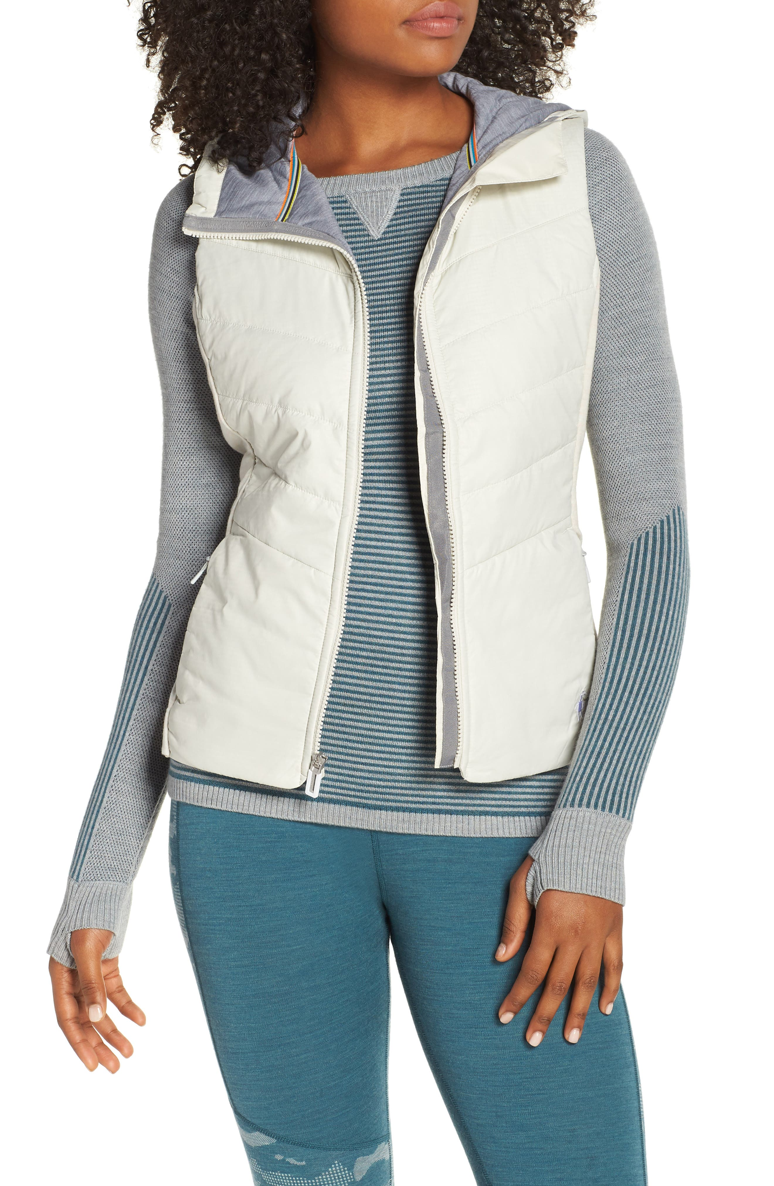 Smartloft 60 Insulated Hooded Vest,                             Main thumbnail 1, color,                             SILVER BIRCH