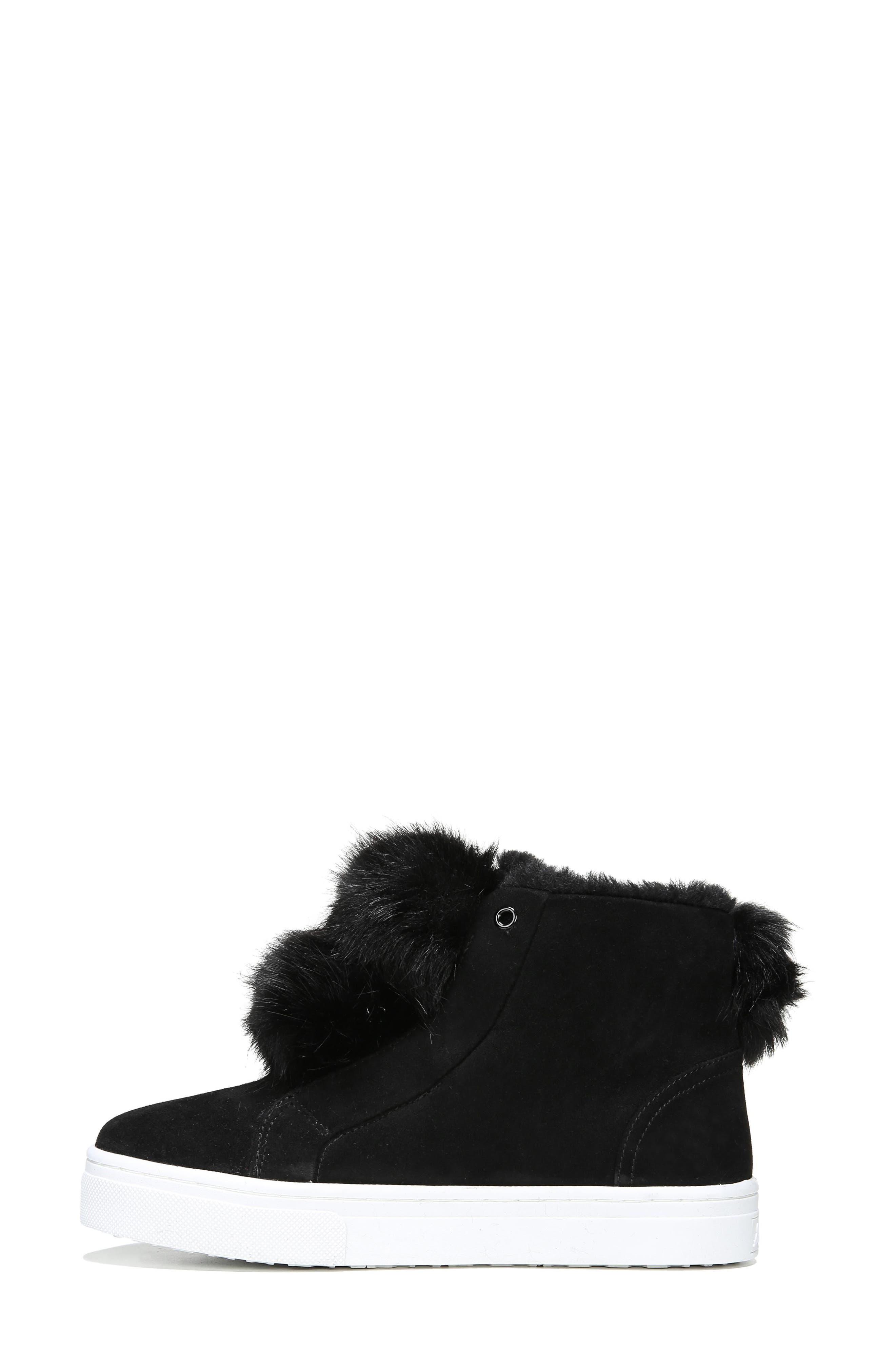 Lear Faux Fur Sneaker,                             Alternate thumbnail 3, color,                             001