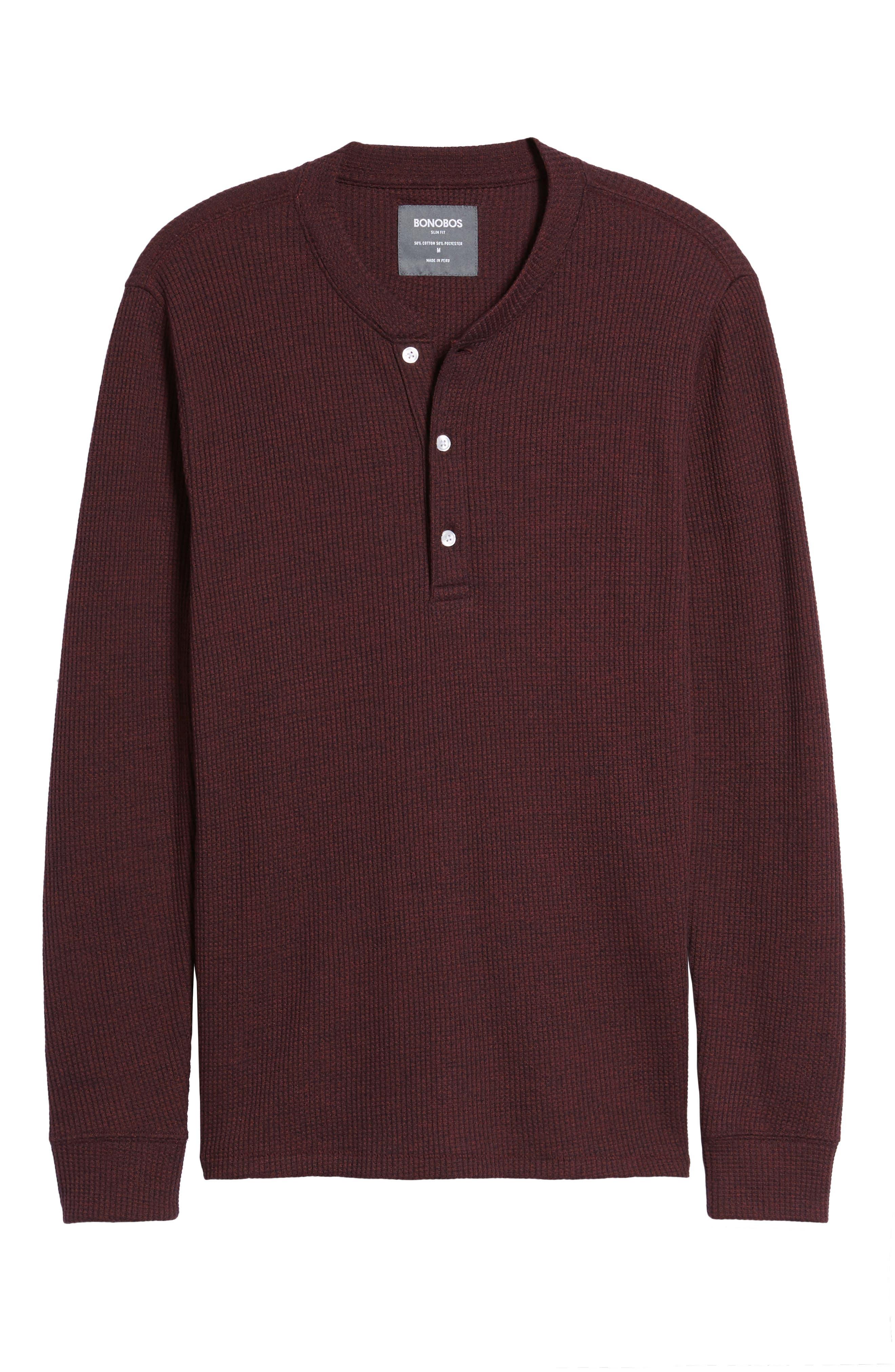 Slim Fit Long Sleeve Henley Shirt,                             Alternate thumbnail 18, color,
