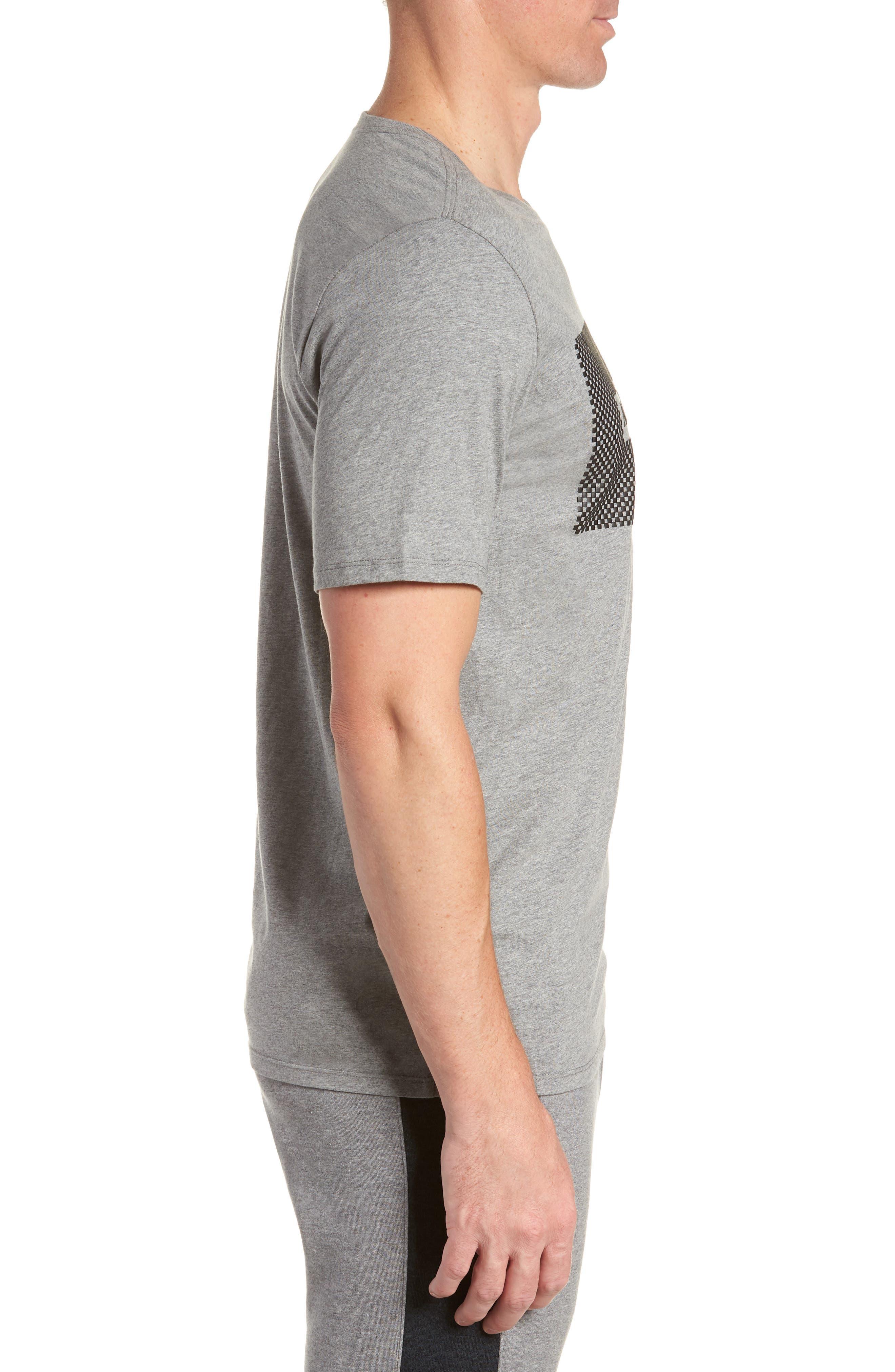 Air Jordan 23 T-Shirt,                             Alternate thumbnail 3, color,                             CARBON HEATHER/ BLACK