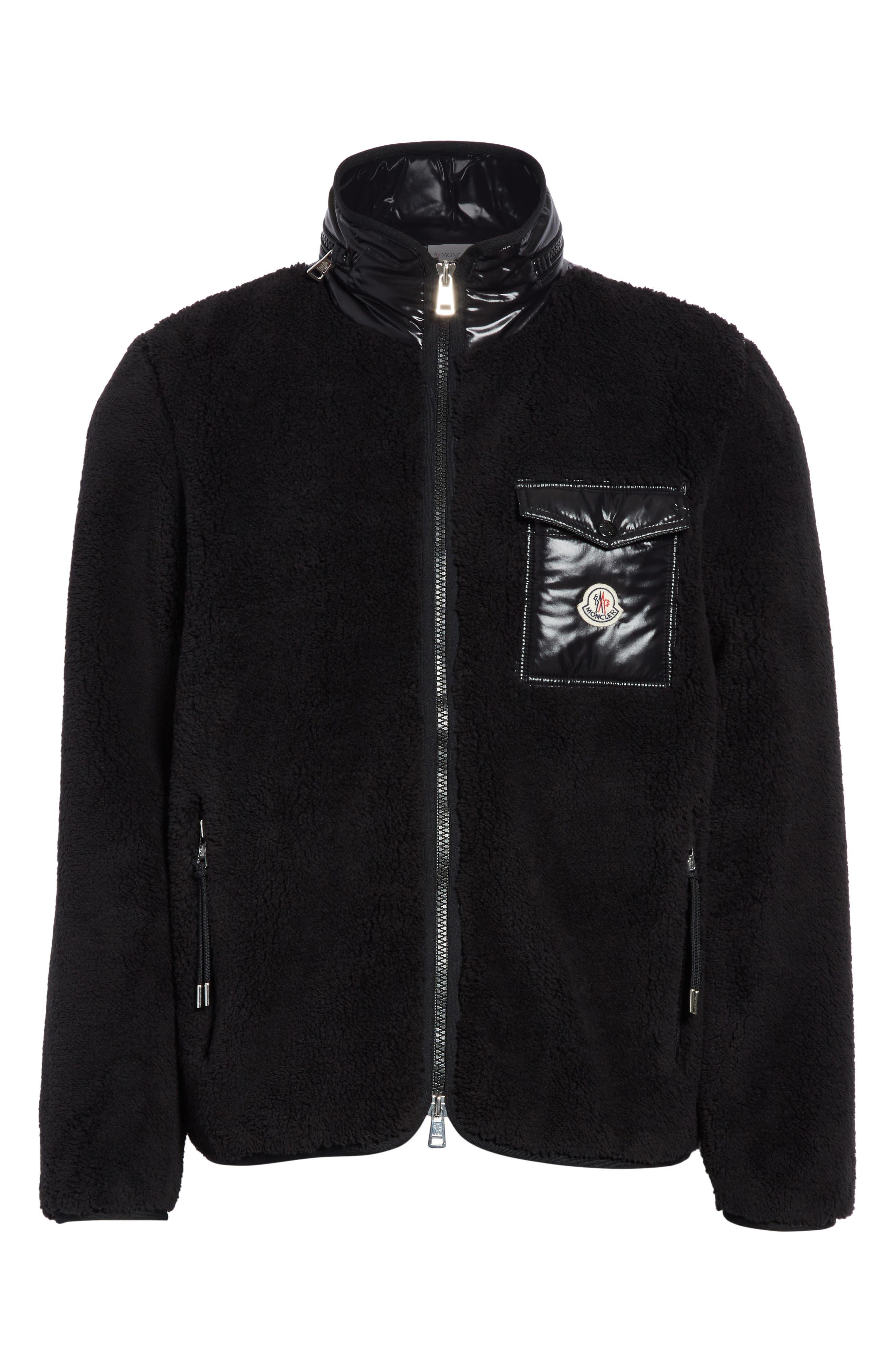 Polar Fleece Zip Jacket,                             Alternate thumbnail 5, color,                             001