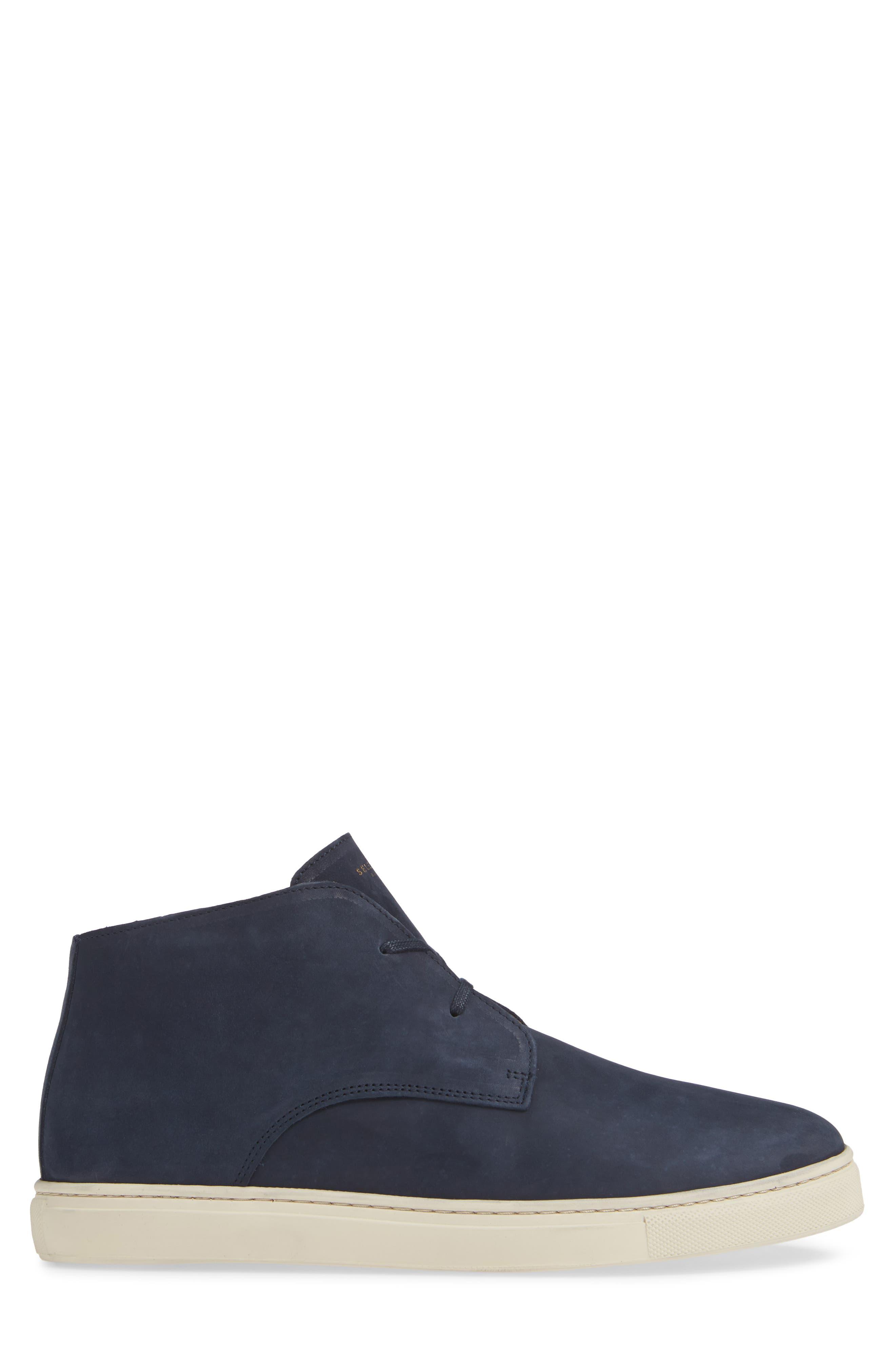 Dempsey Chukka Sneaker,                             Alternate thumbnail 3, color,                             DARK NAVY