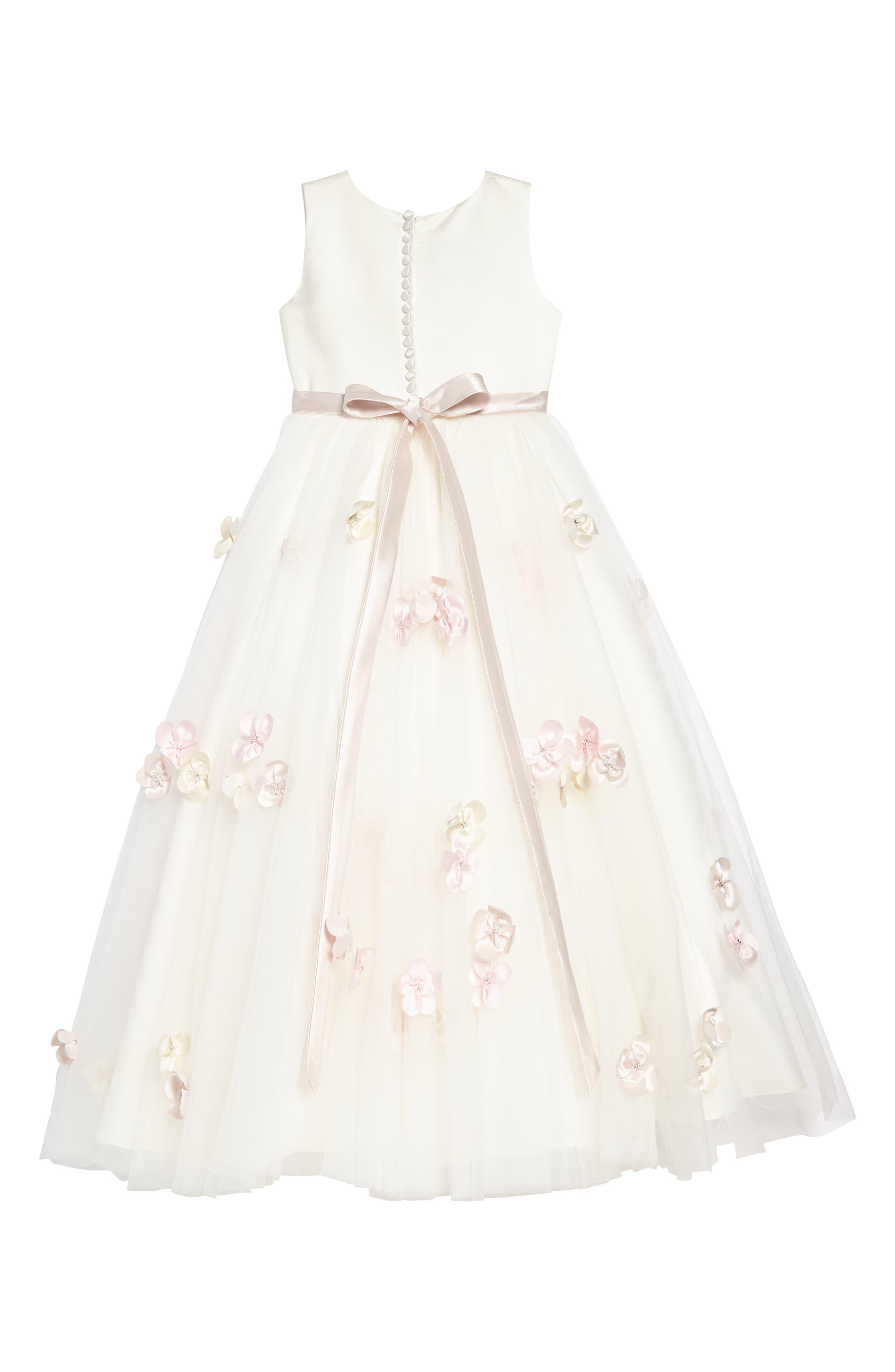 Beaded Satin & Tulle Dress,                             Alternate thumbnail 2, color,                             900