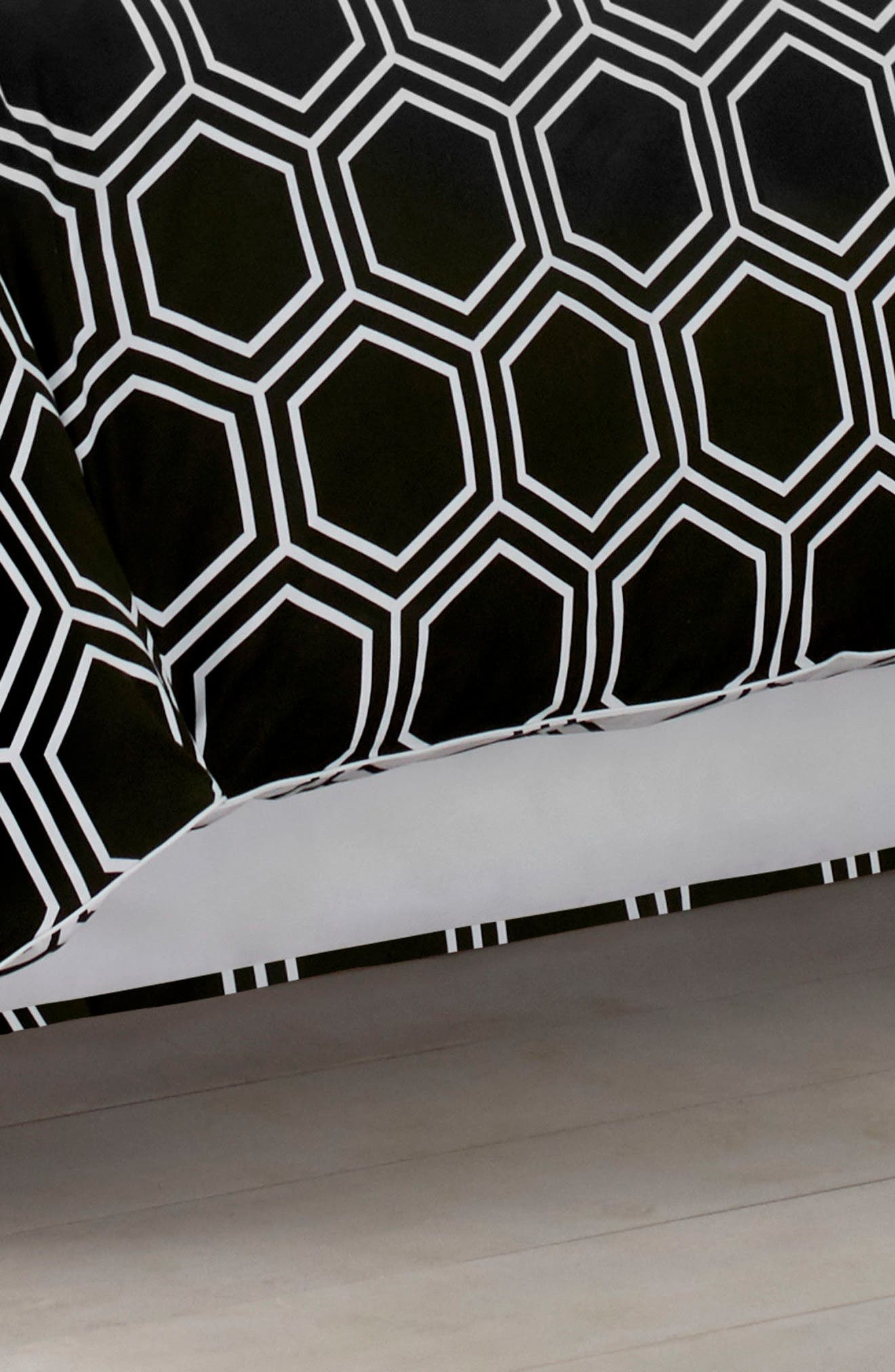 Blackpoint Hex Bed Skirt,                         Main,                         color, 001