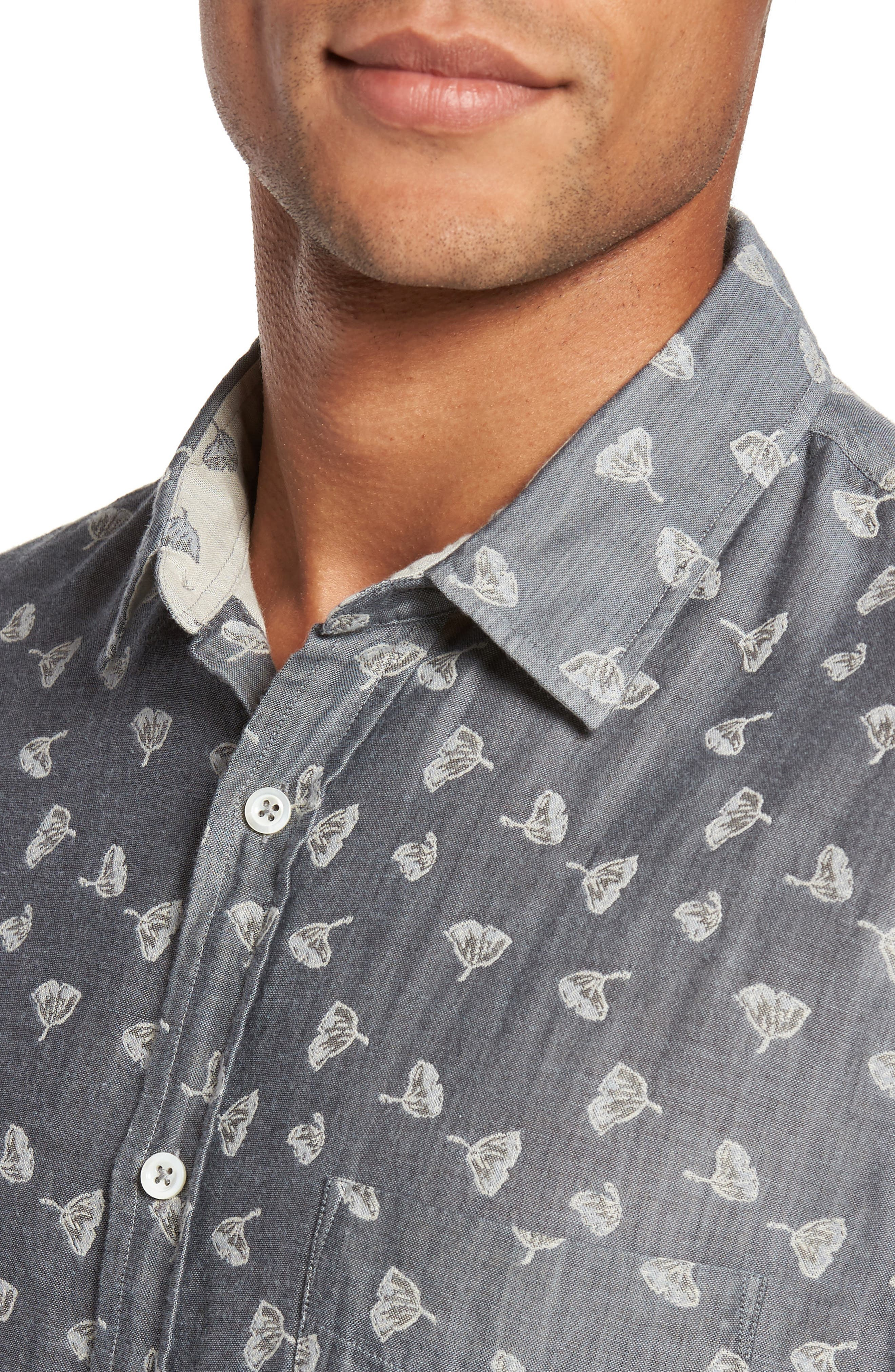 Kirby Print Sport Shirt,                             Alternate thumbnail 4, color,                             425