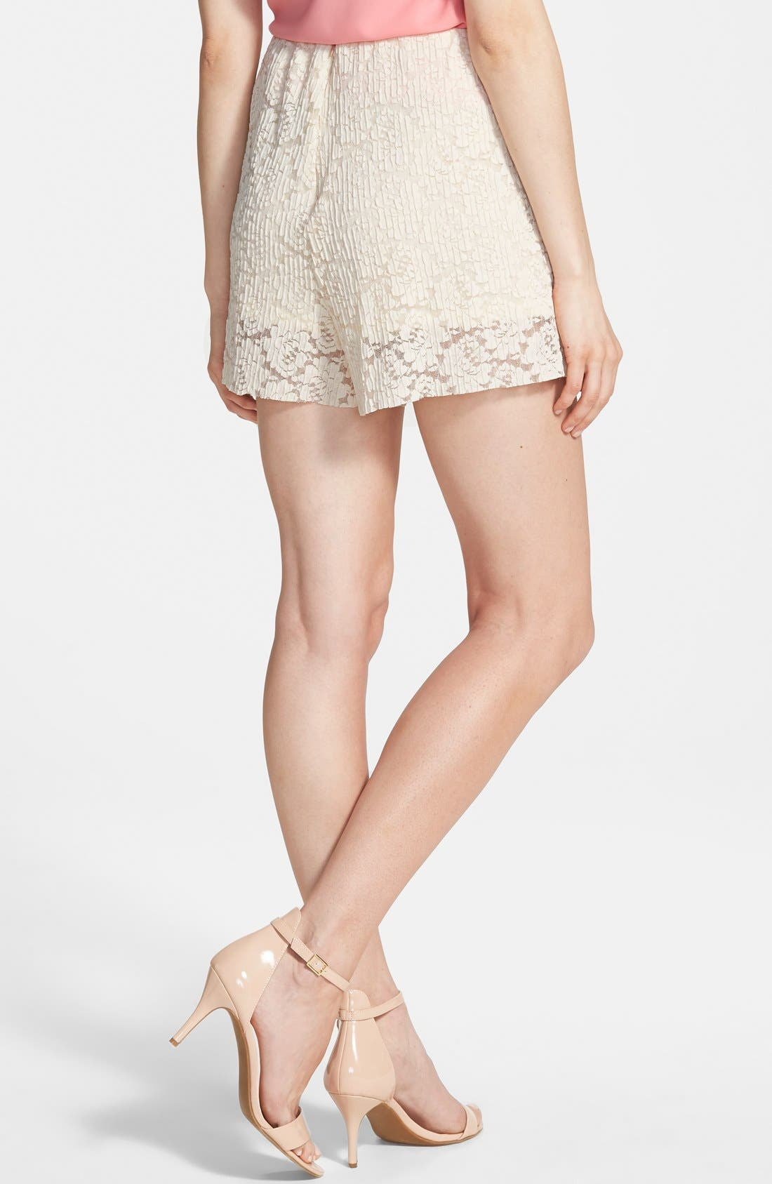 Pleated Lace Shorts,                             Alternate thumbnail 2, color,                             250