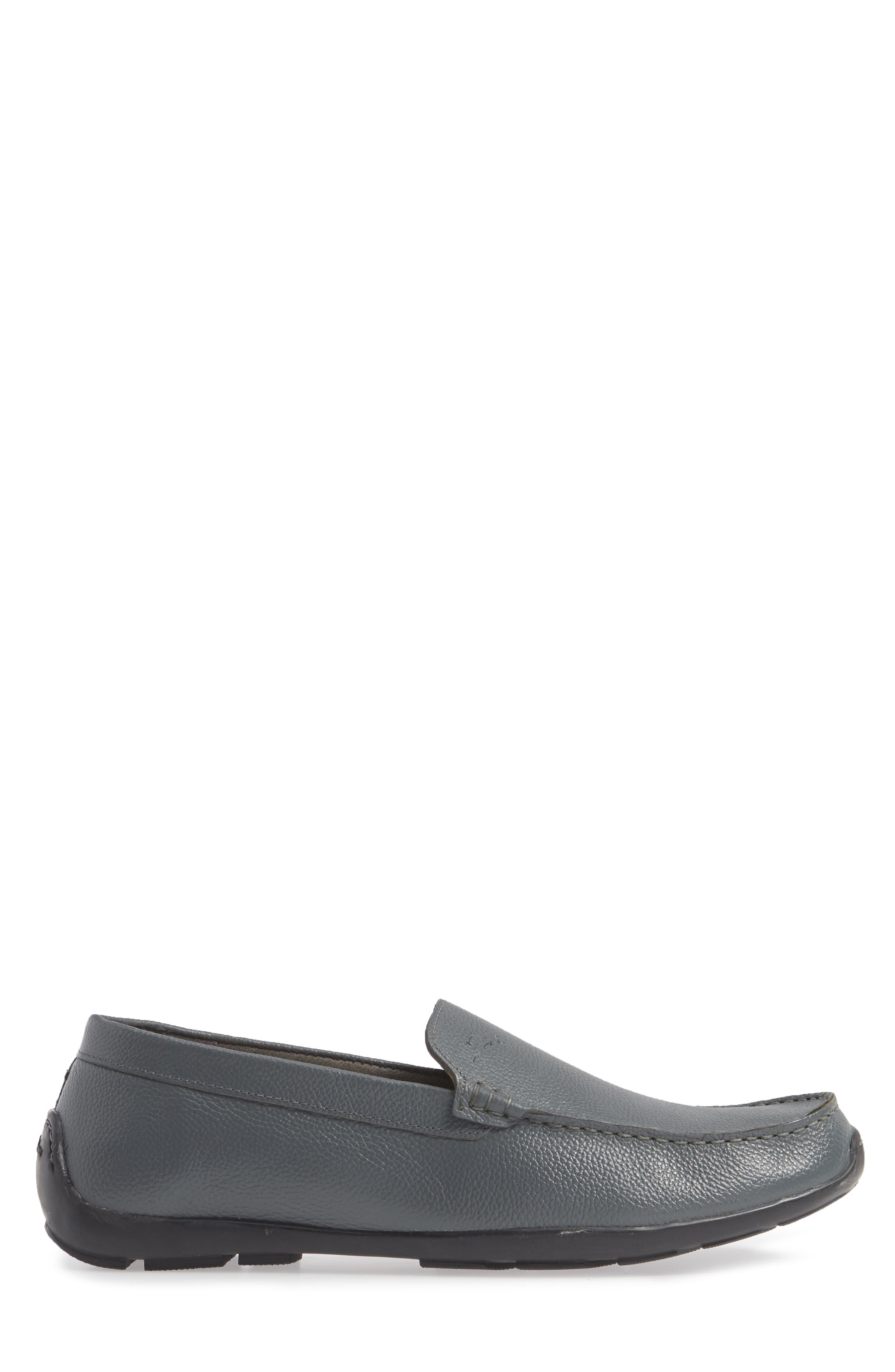 Orion Venetian Loafer,                             Alternate thumbnail 3, color,                             GREY TUMBLED LEATHER