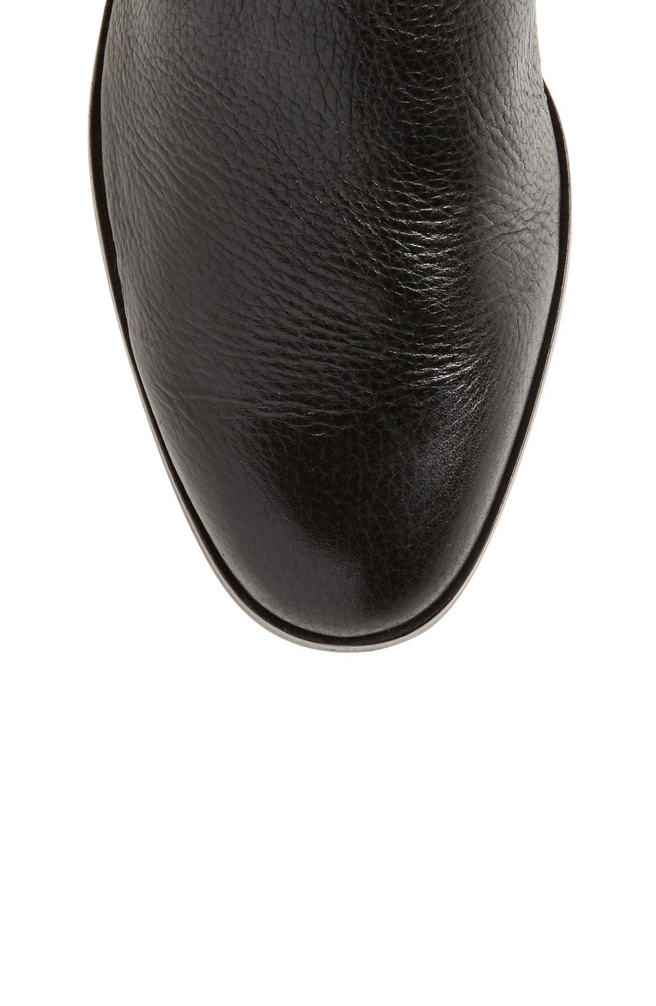 Vallery Elastic Back Knee High Boot,                             Alternate thumbnail 5, color,                             001